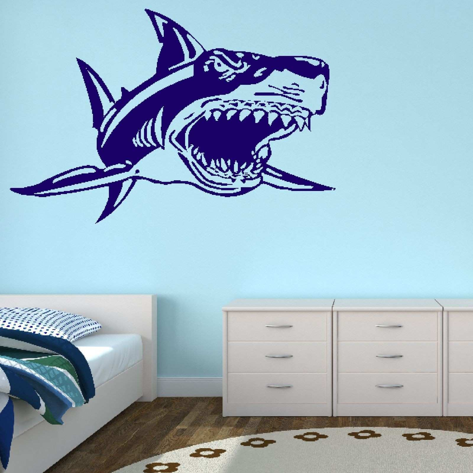 40 Lovely Shark Wall Stickers