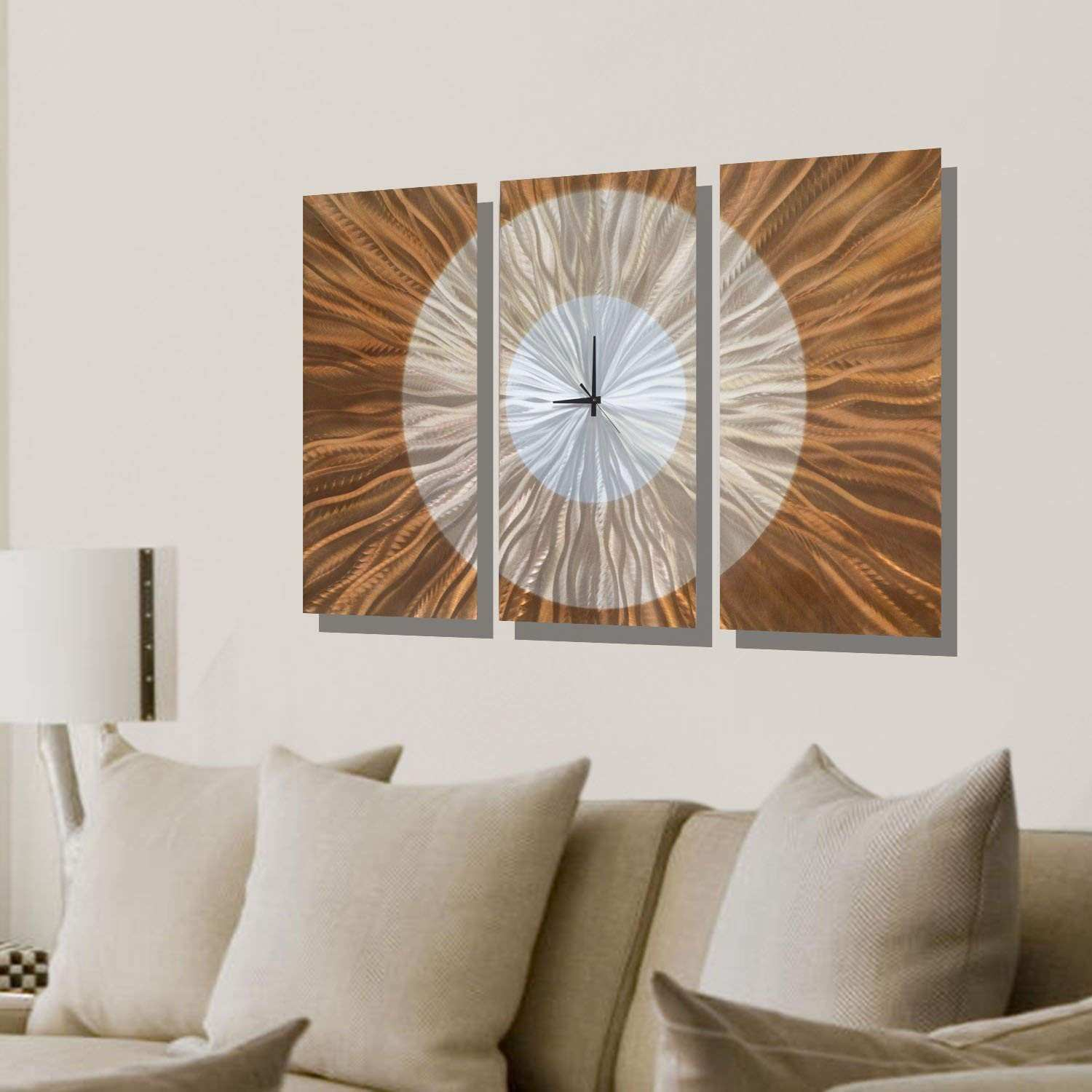 Amazon Statements2000 Contemporary Wall Clock with Orange