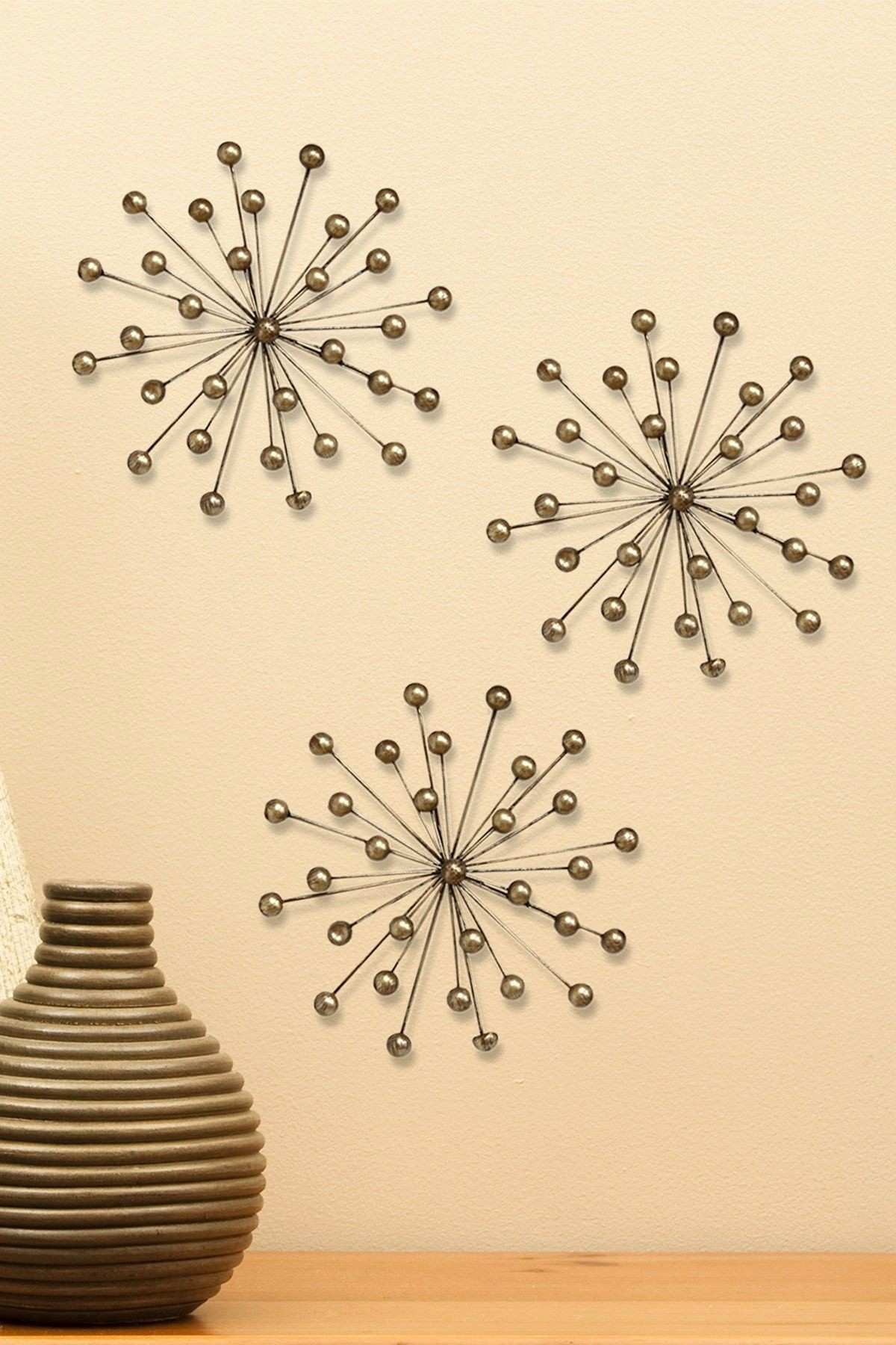 Exelent Silver Burst Wall Decor Ornament Wall Art Collections