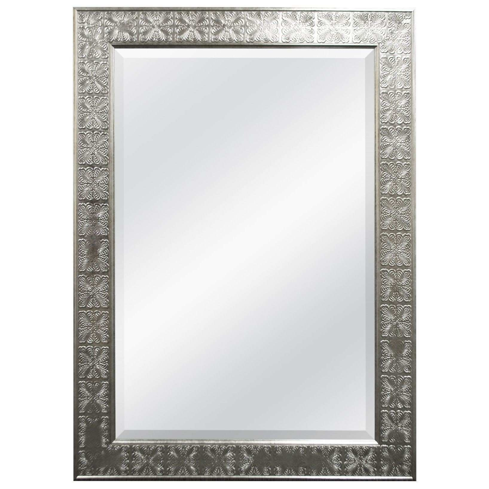 MCS Industries Silver Medallion Beveled Wall Mirror