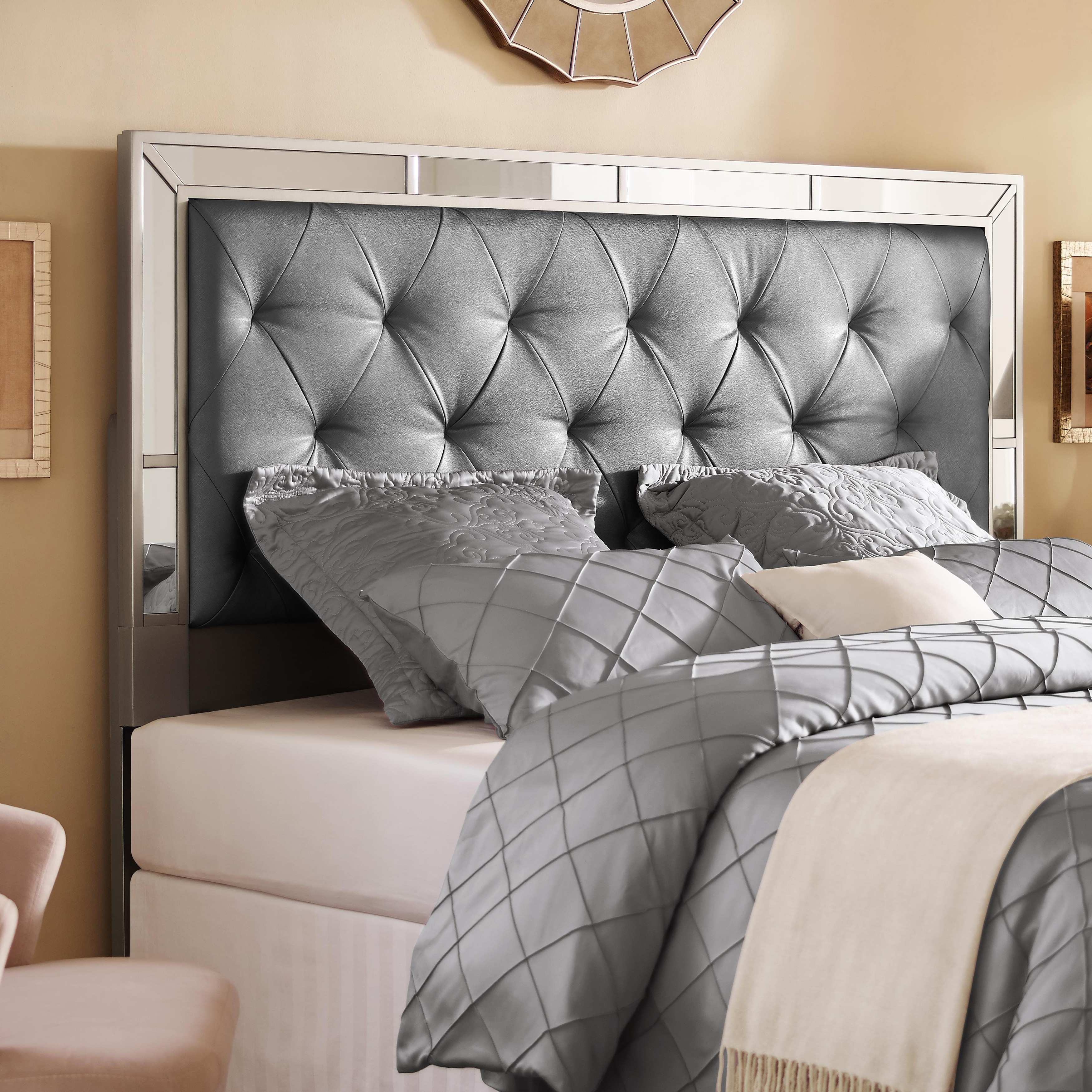 Mirrored Headboards Home Design Awful s Ideas Silver Queenfull