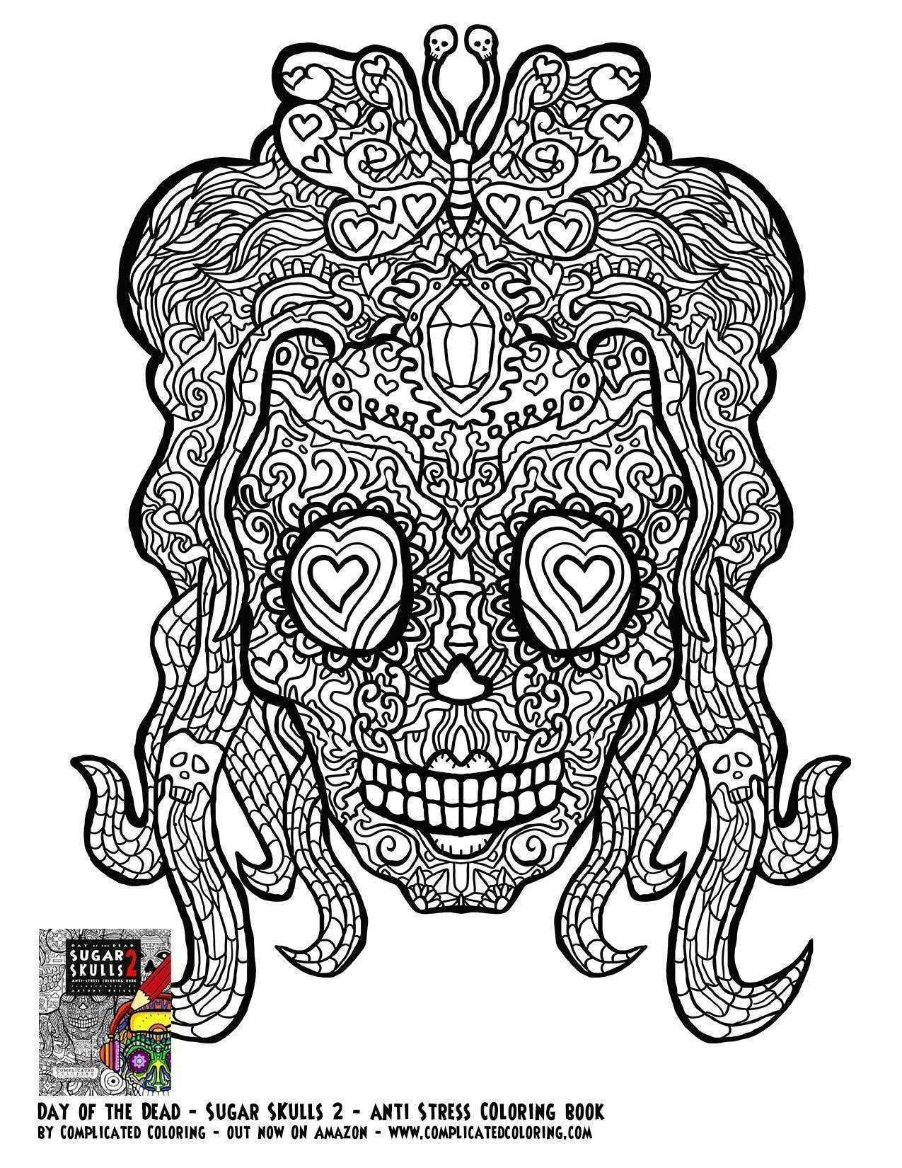 18beautiful Skull Coloring Books For Adults Clip arts & coloring pages