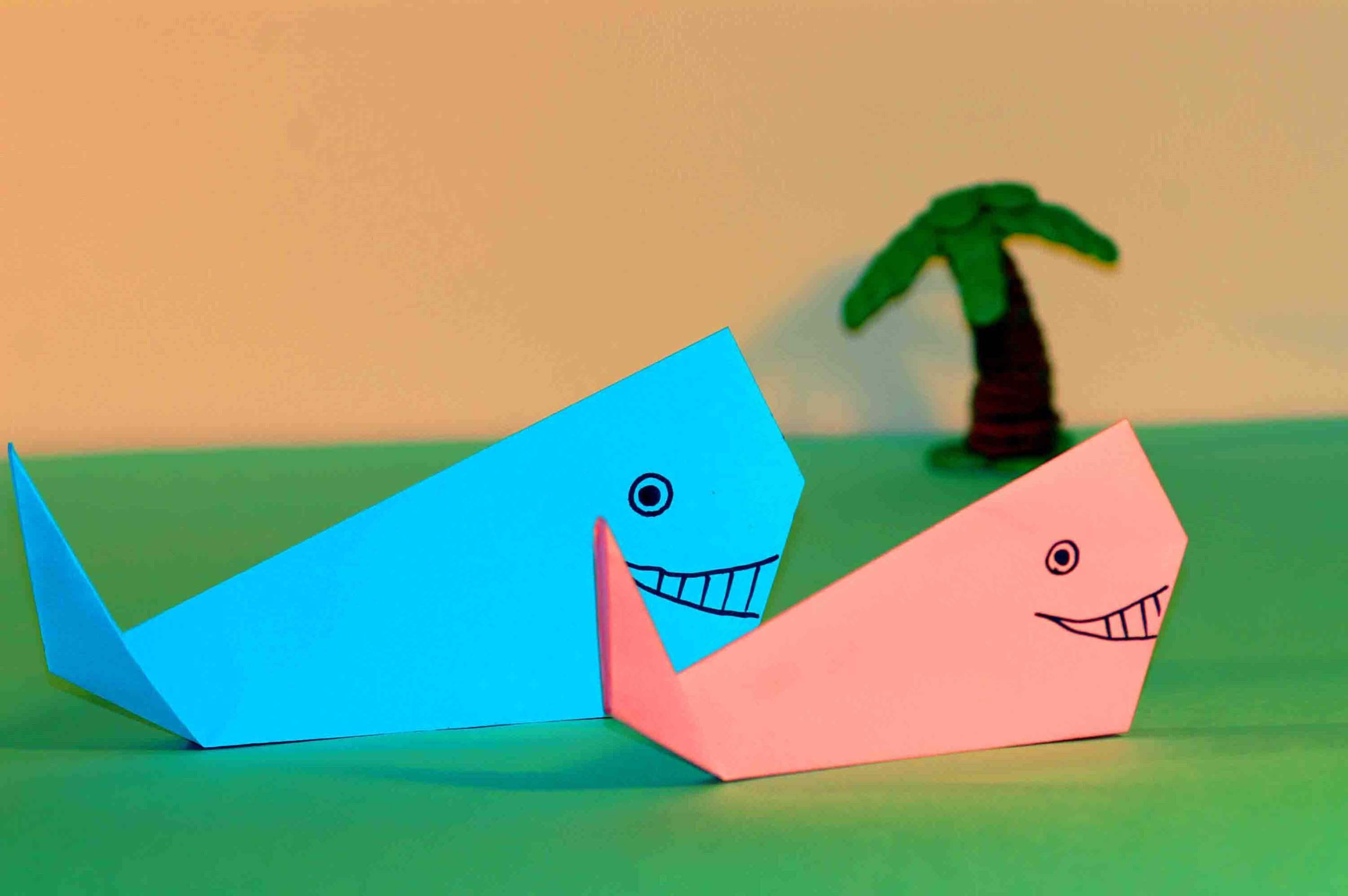 PAPER CRAFTS FOR KIDS Easy origami for kids ORIGAMI WHALE Simple
