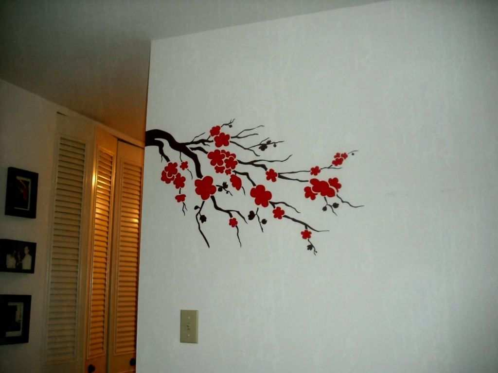 Simple wall painting designs for living room inspirational