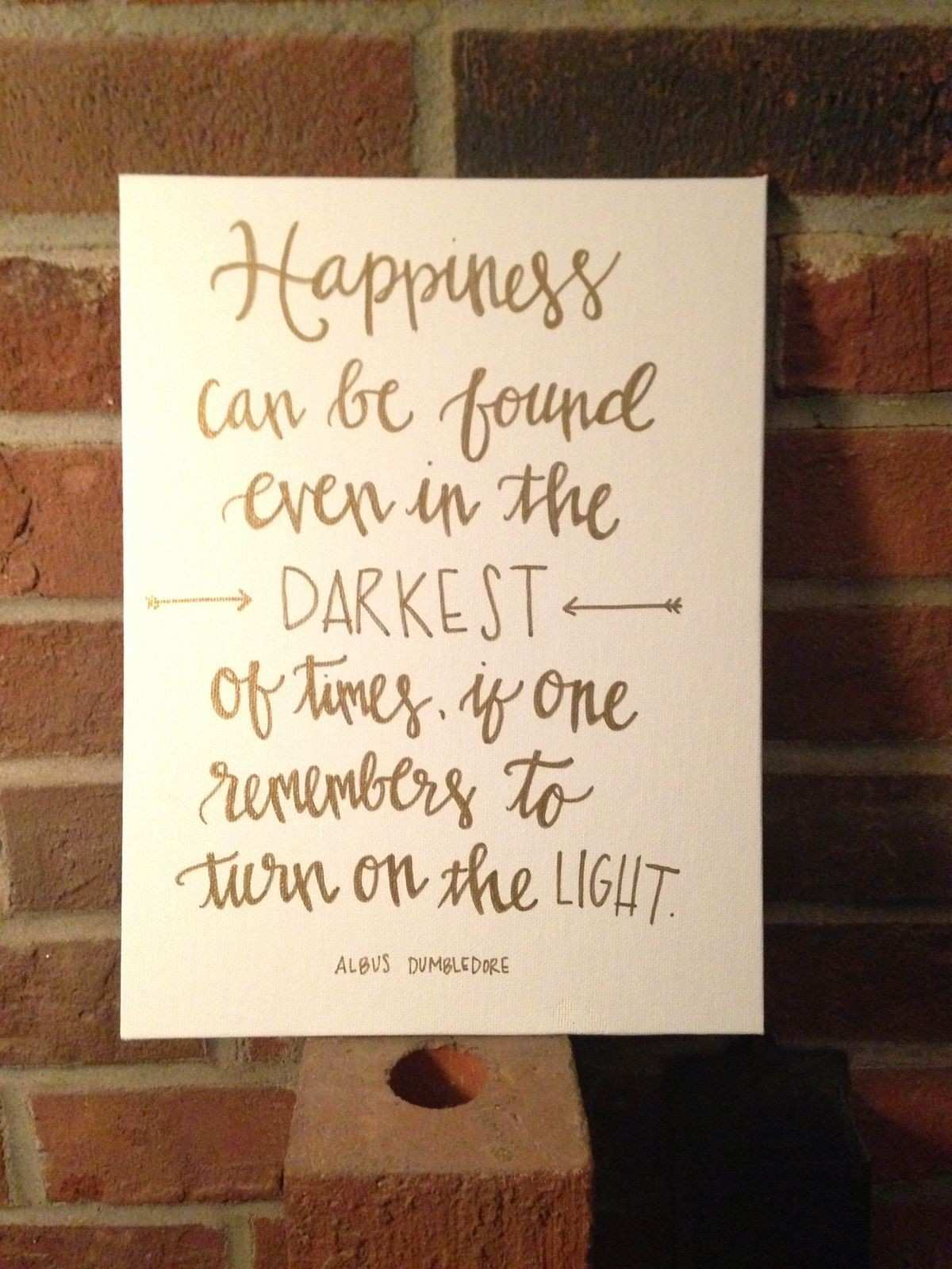 Quote Painting Harry Potter Canvas My Crafts Pinterest