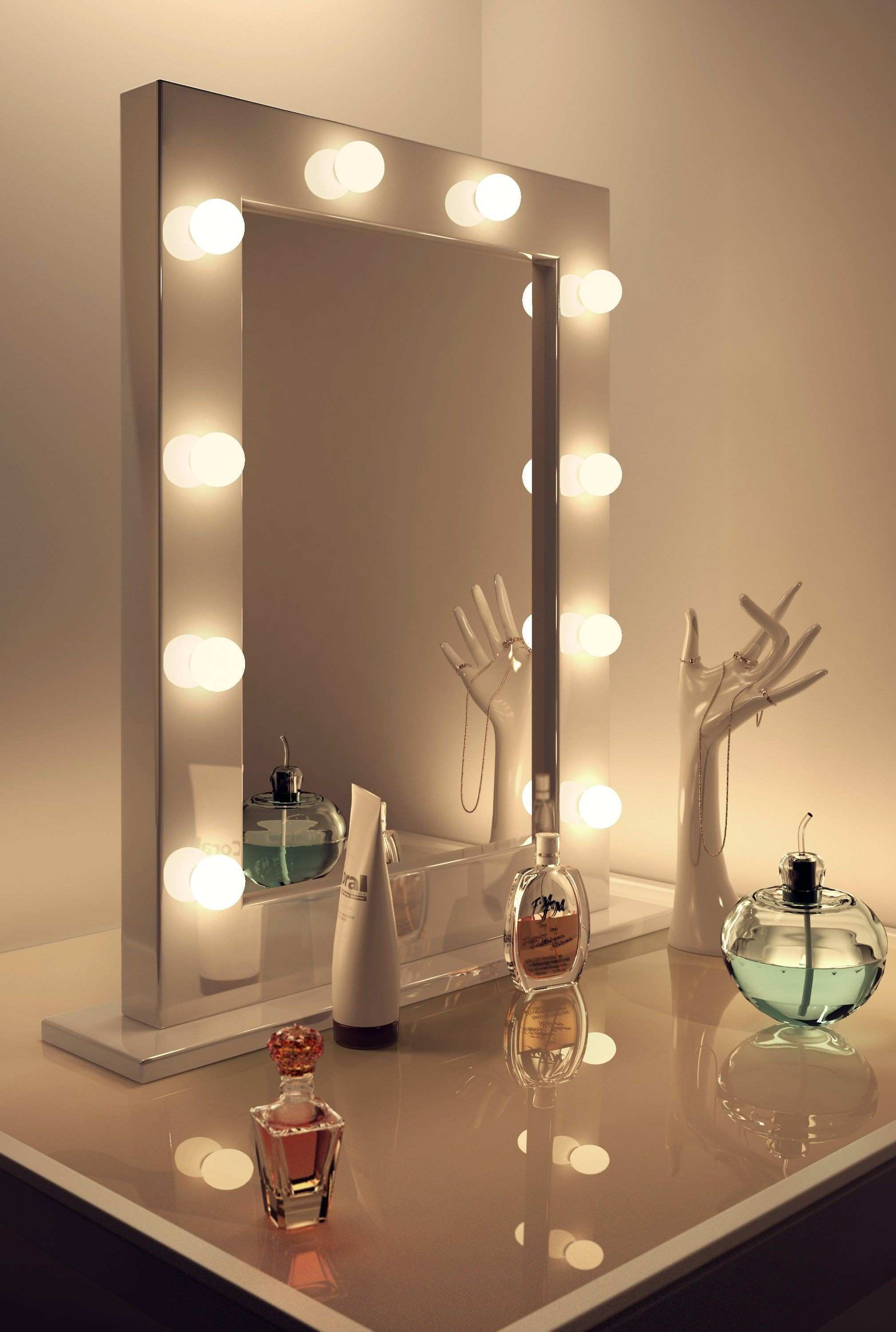 100 Lovely Desk Mirror with Lights