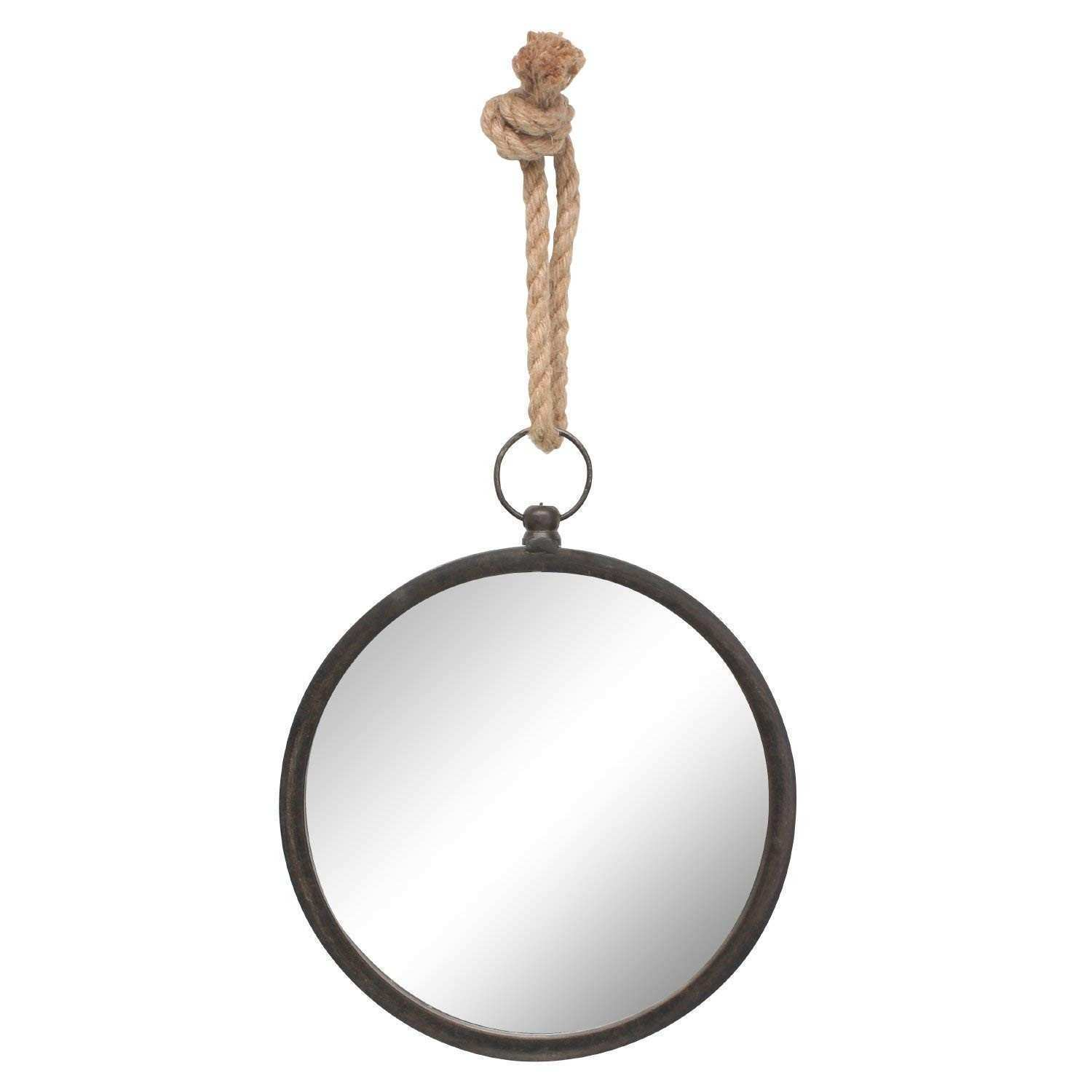 Amazon Stonebriar Round Nautical Mirror for Wall with Hanging