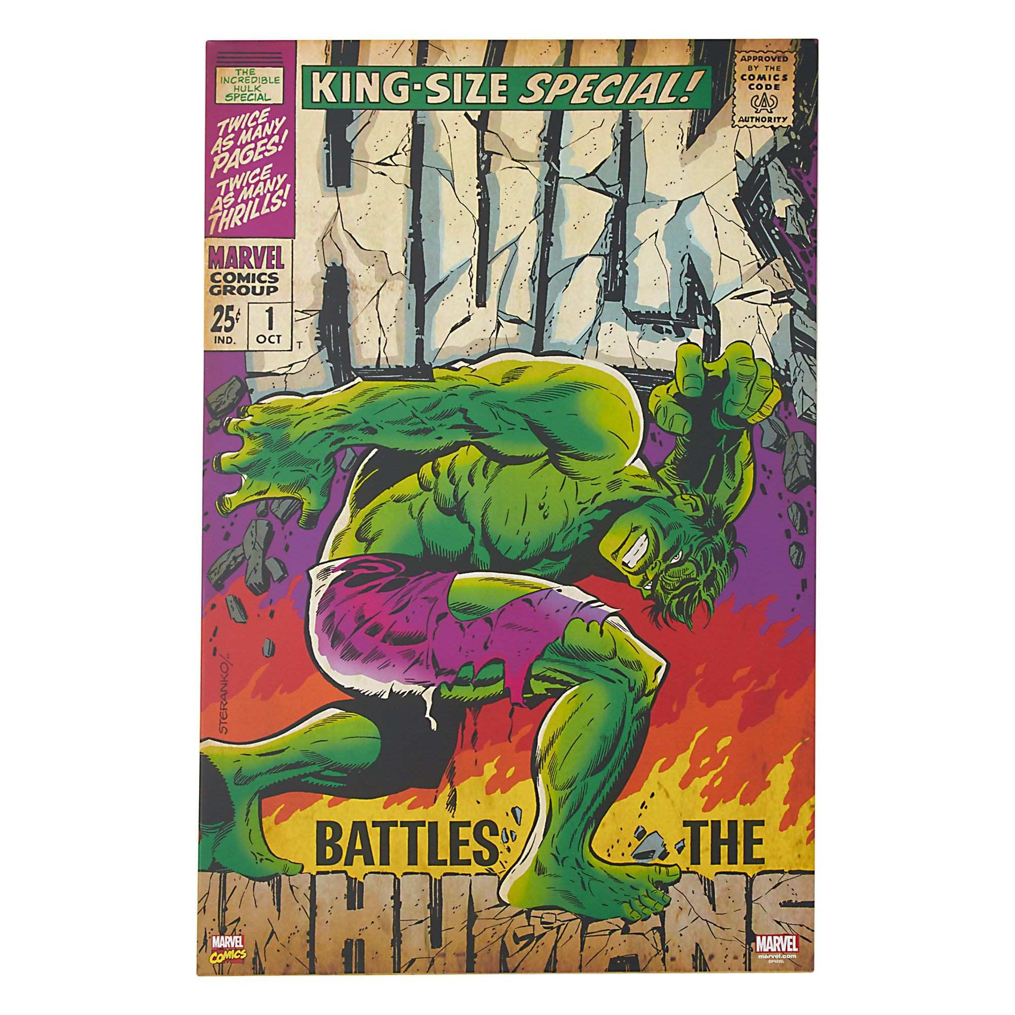 "Hulk Canvas Wall Art 24"" x 36"" Gordmans"