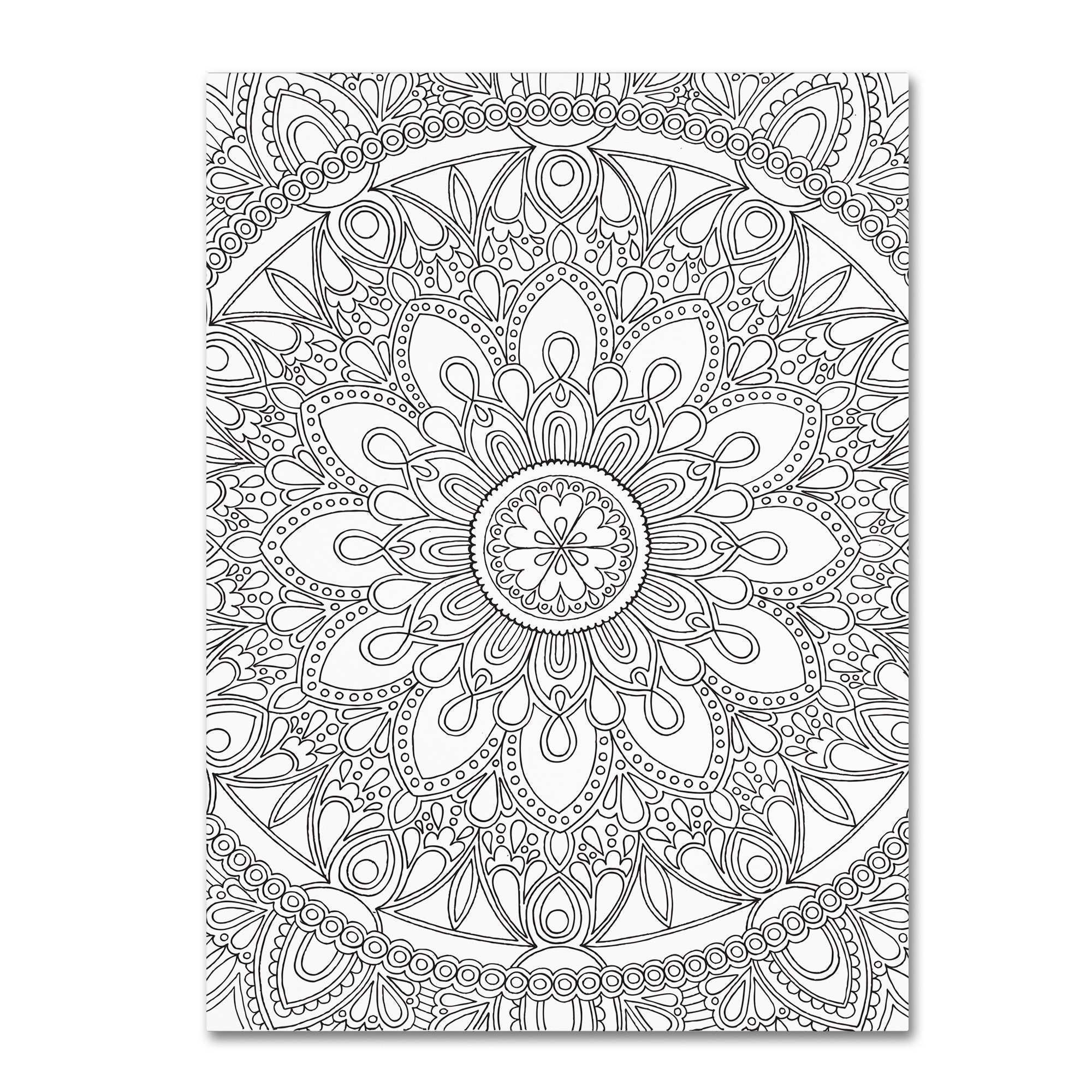 East Urban Home Delightful Mandala Graphic Art on Wrapped Canvas