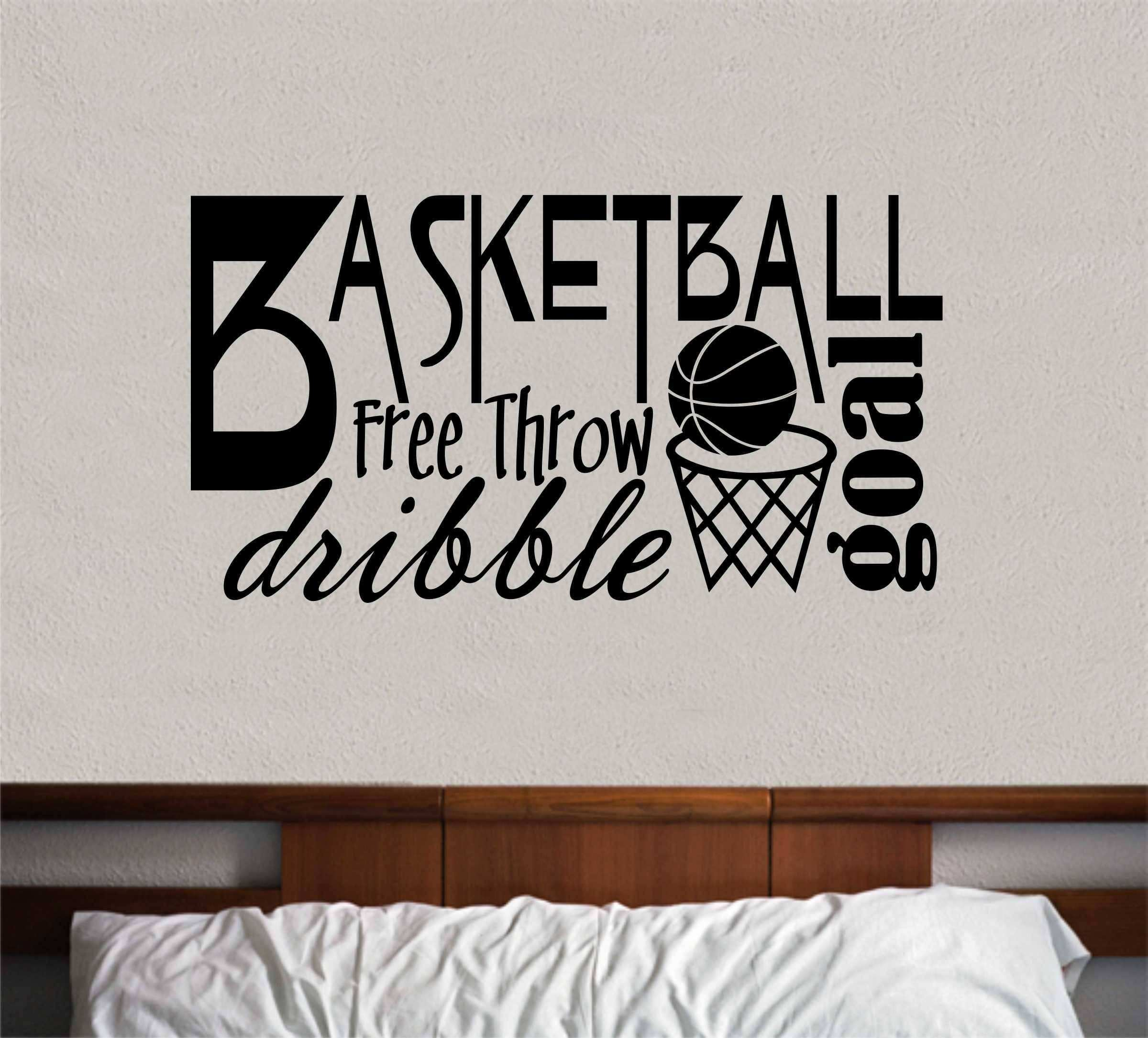 Basketball Word Collage Basketball Quote Vinyl Wall Lettering