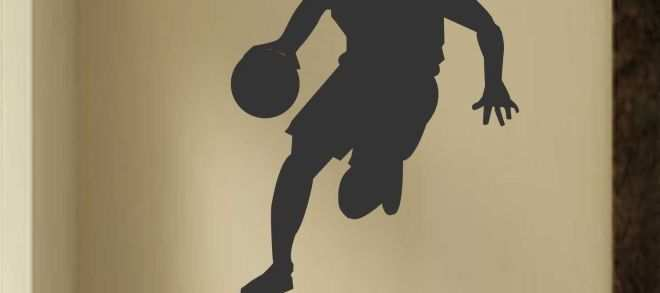 Sports Wall Decals Unique Basketball Player Silhouette Sports Decals