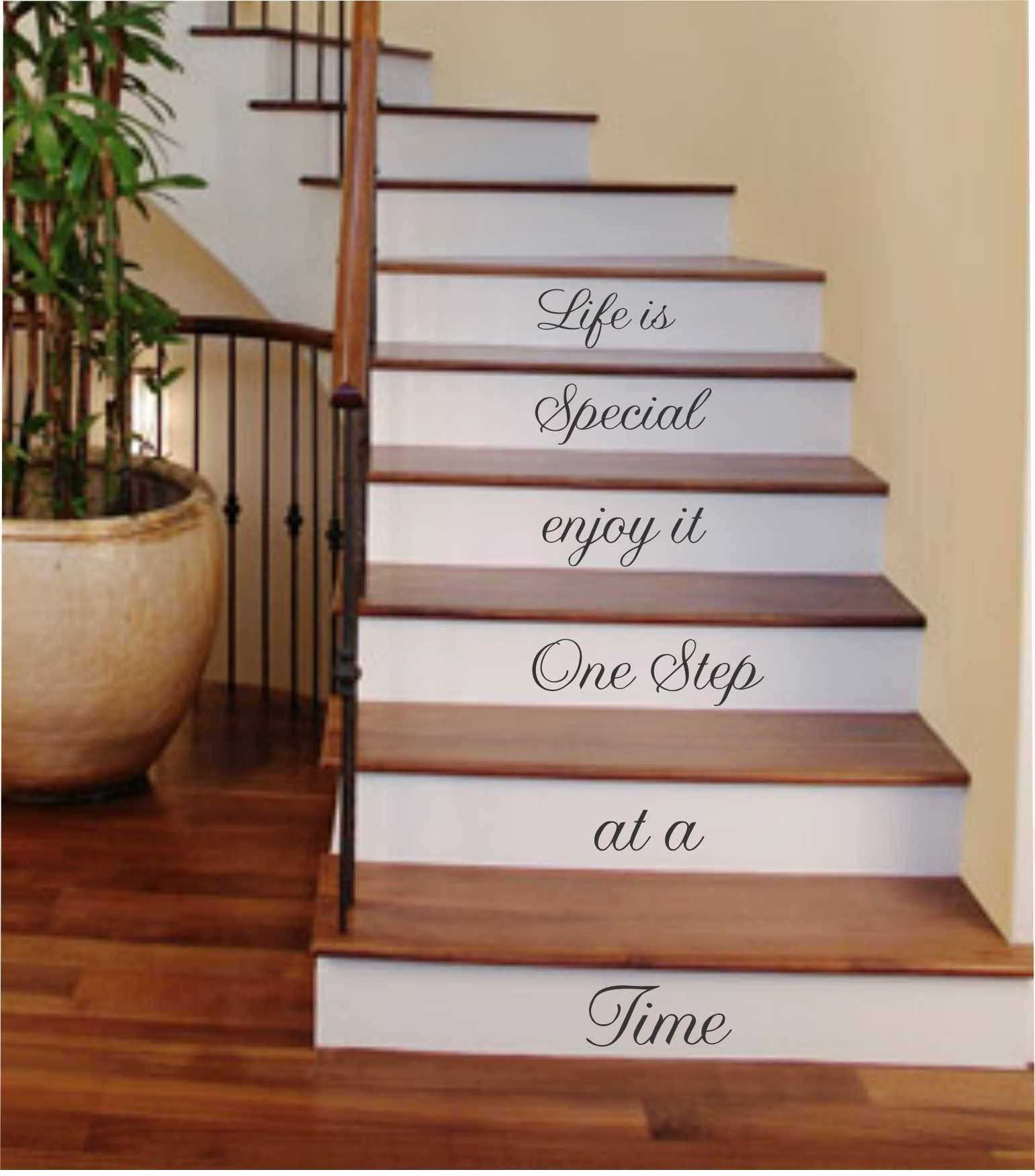 e Step at a Time Vinyl Stairs Decal
