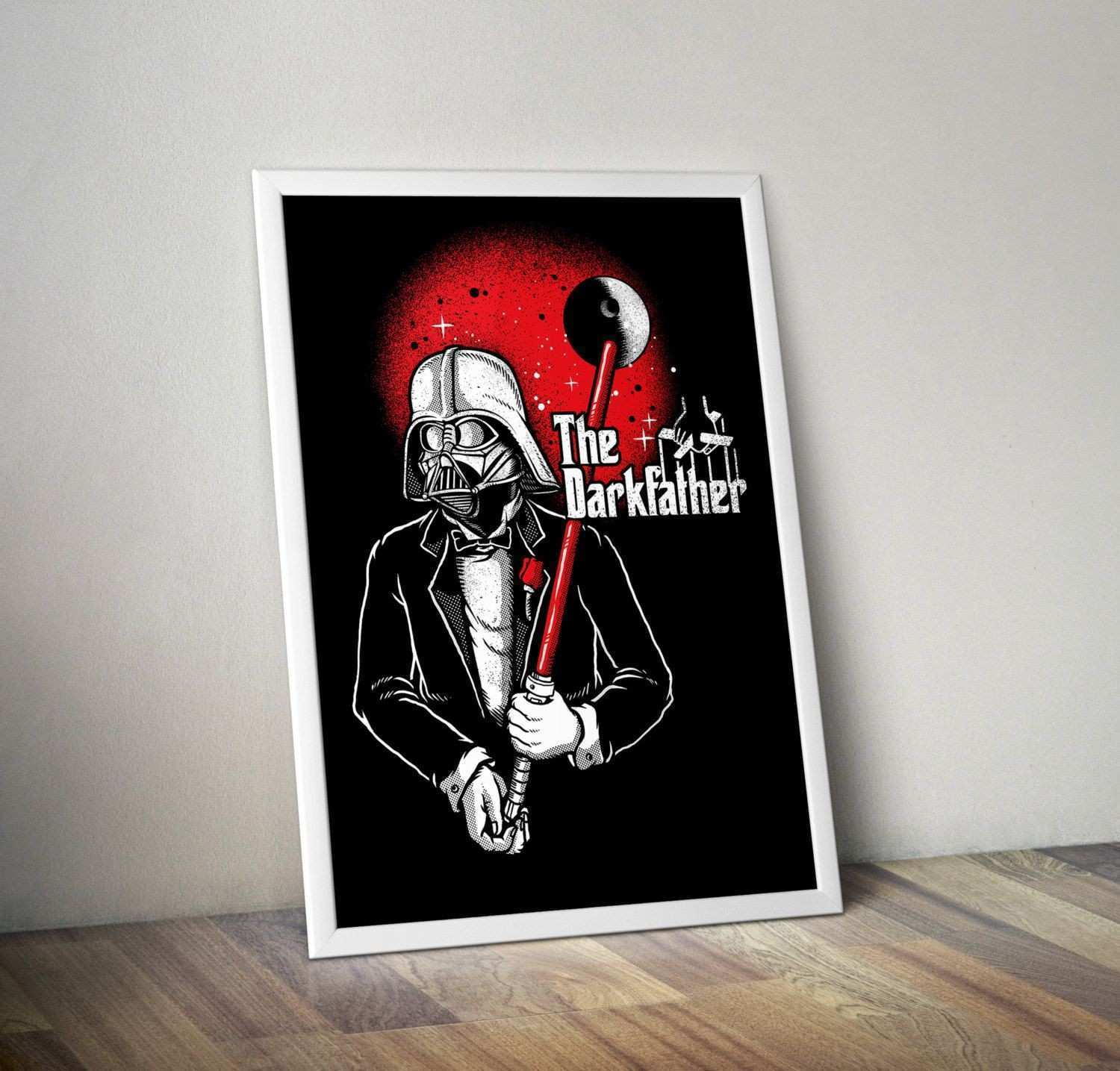 The Dark Father Star Wars wall art inspirational poster by