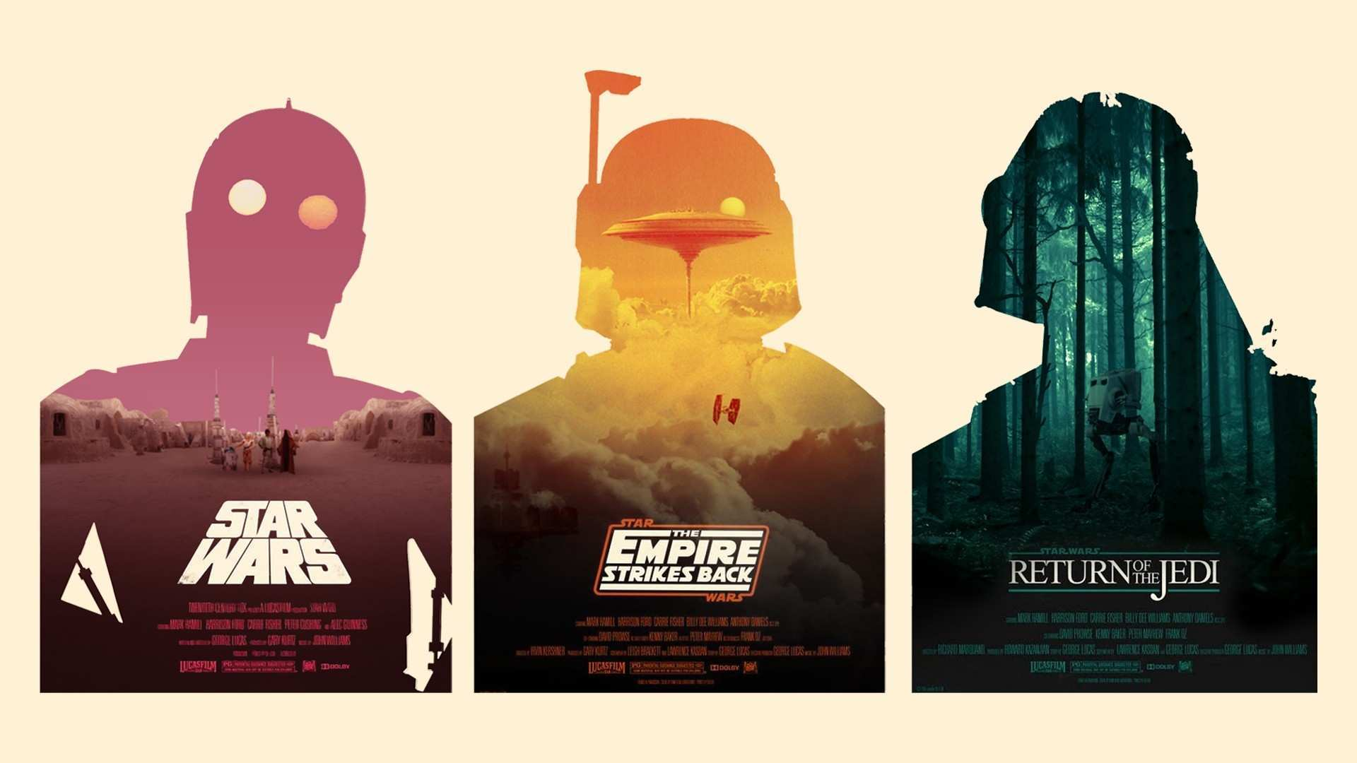 I recreated Olly Moss iconic Star Wars posters as if they were