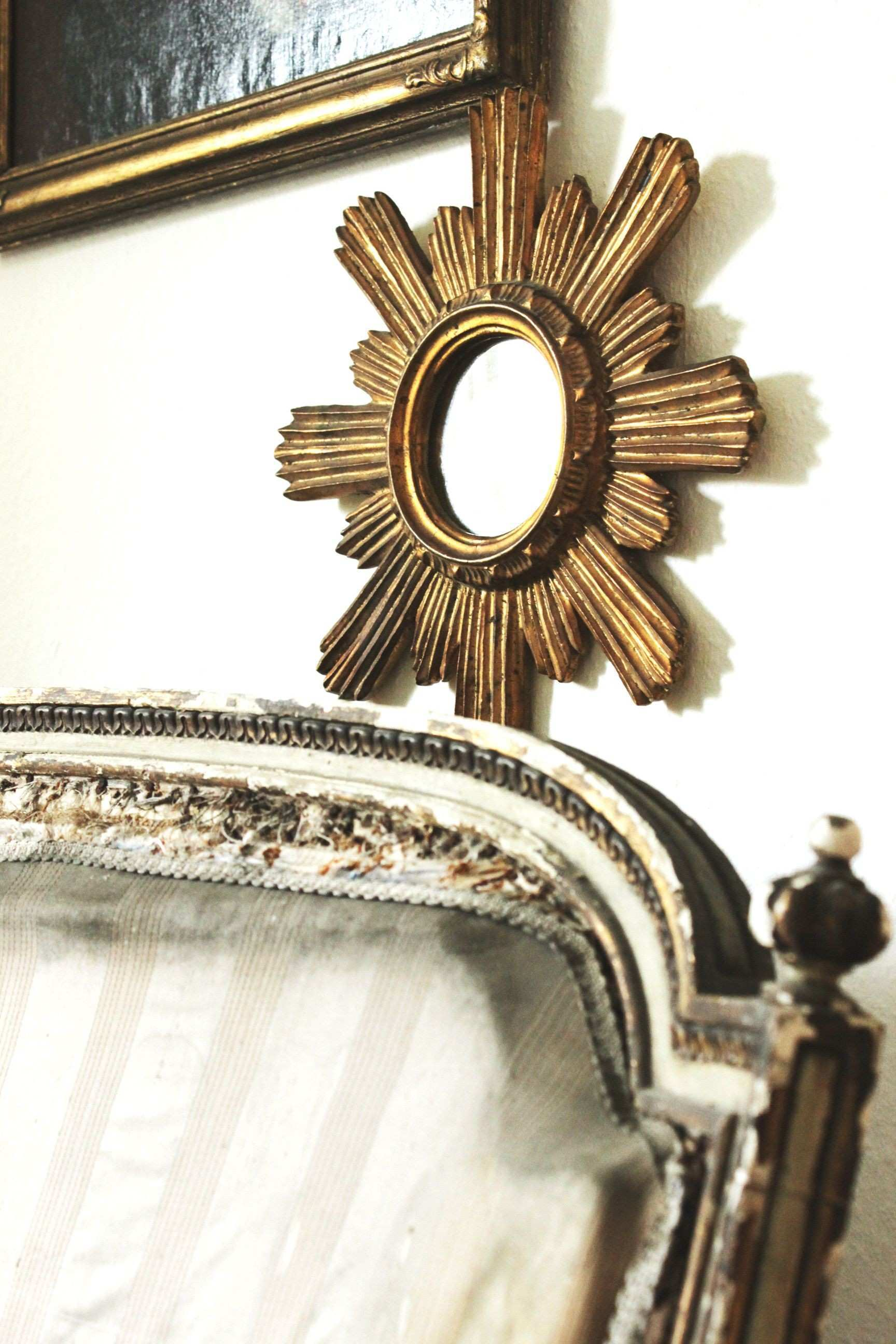 sunburst mirror Louis XIV home of Marcel Trojanowski