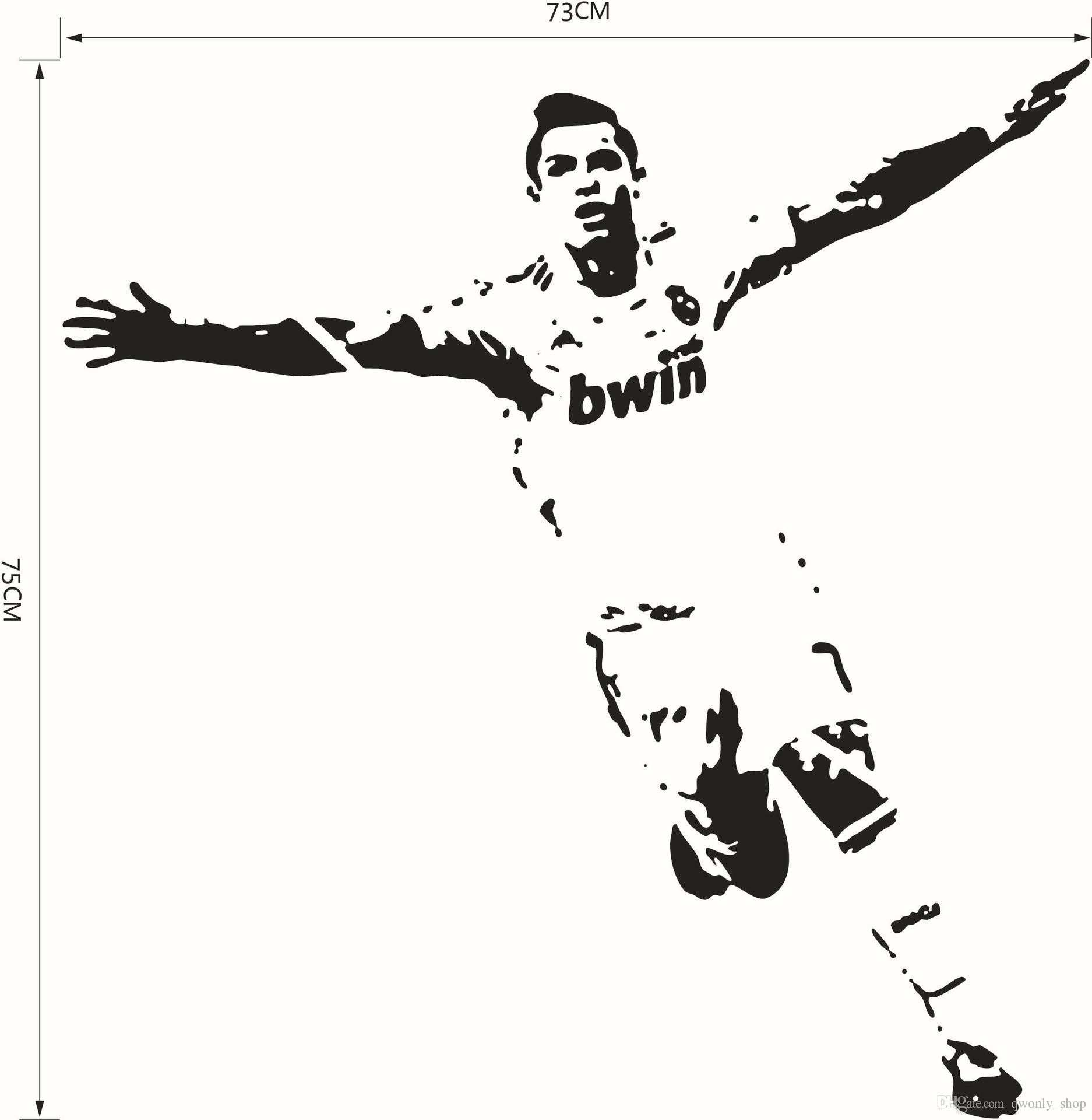 Football Soccer Star Home Decor Wall Stickers Pvc Vinyl Removable