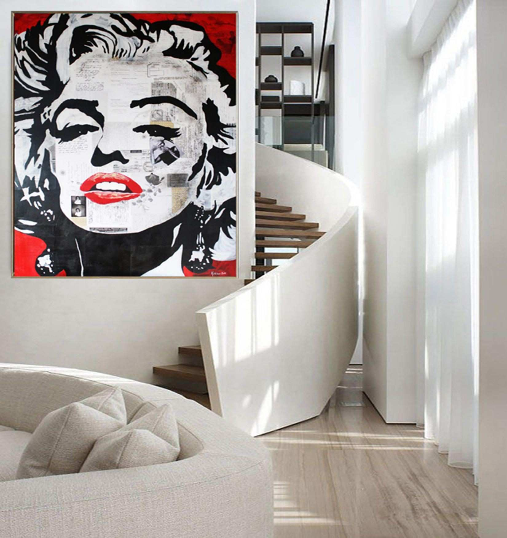 Marilyn MONROE Print Canvas Stretched Ready To Hang Print
