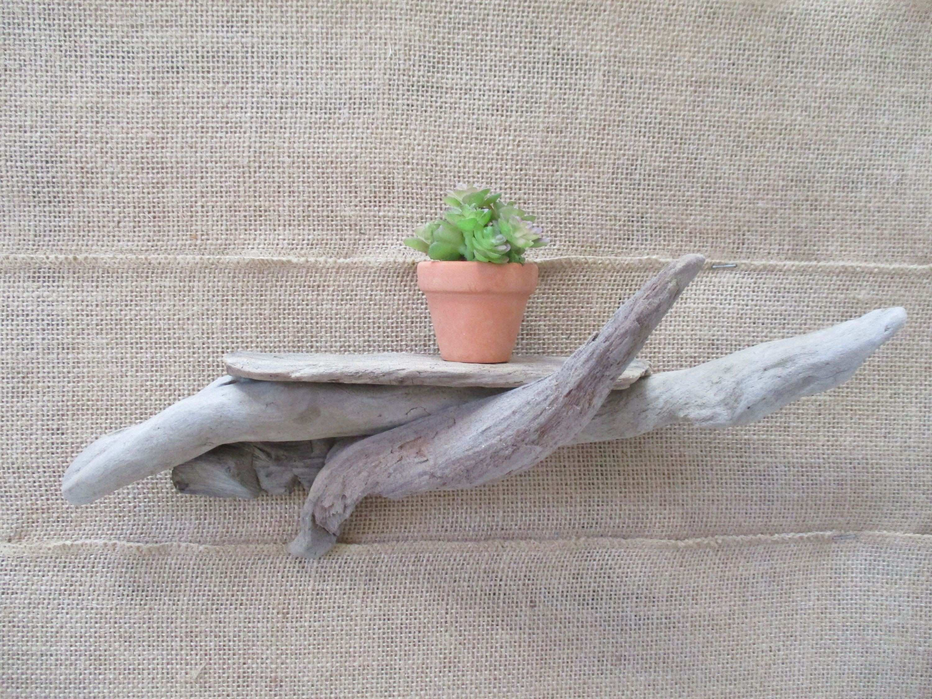FREE SHIPPING = Driftwood Shelf Air Plant Candle