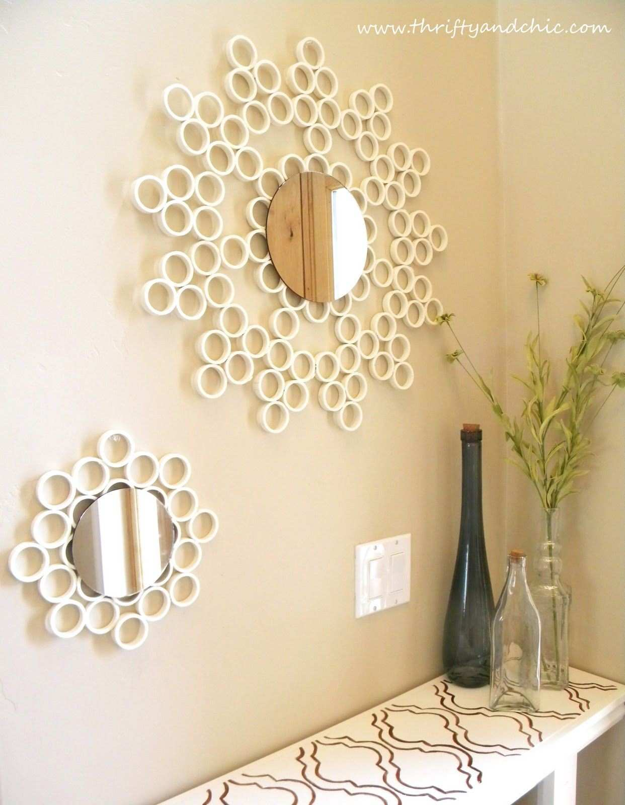 PVC Pipe Mirror Pinterest