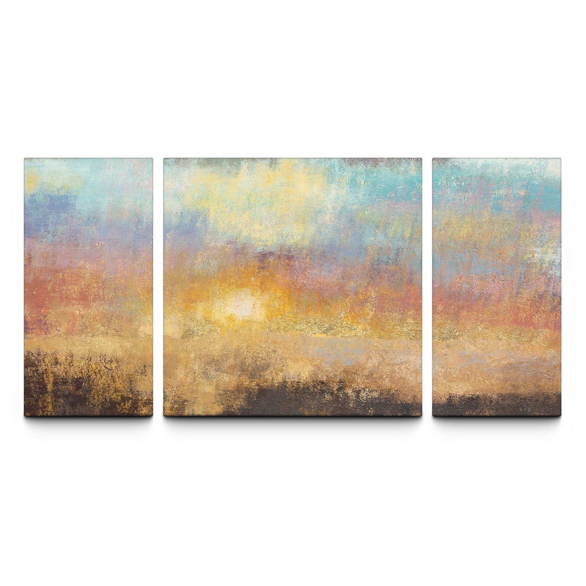 Paradise Sunset 3 Panel Canvas Print Products