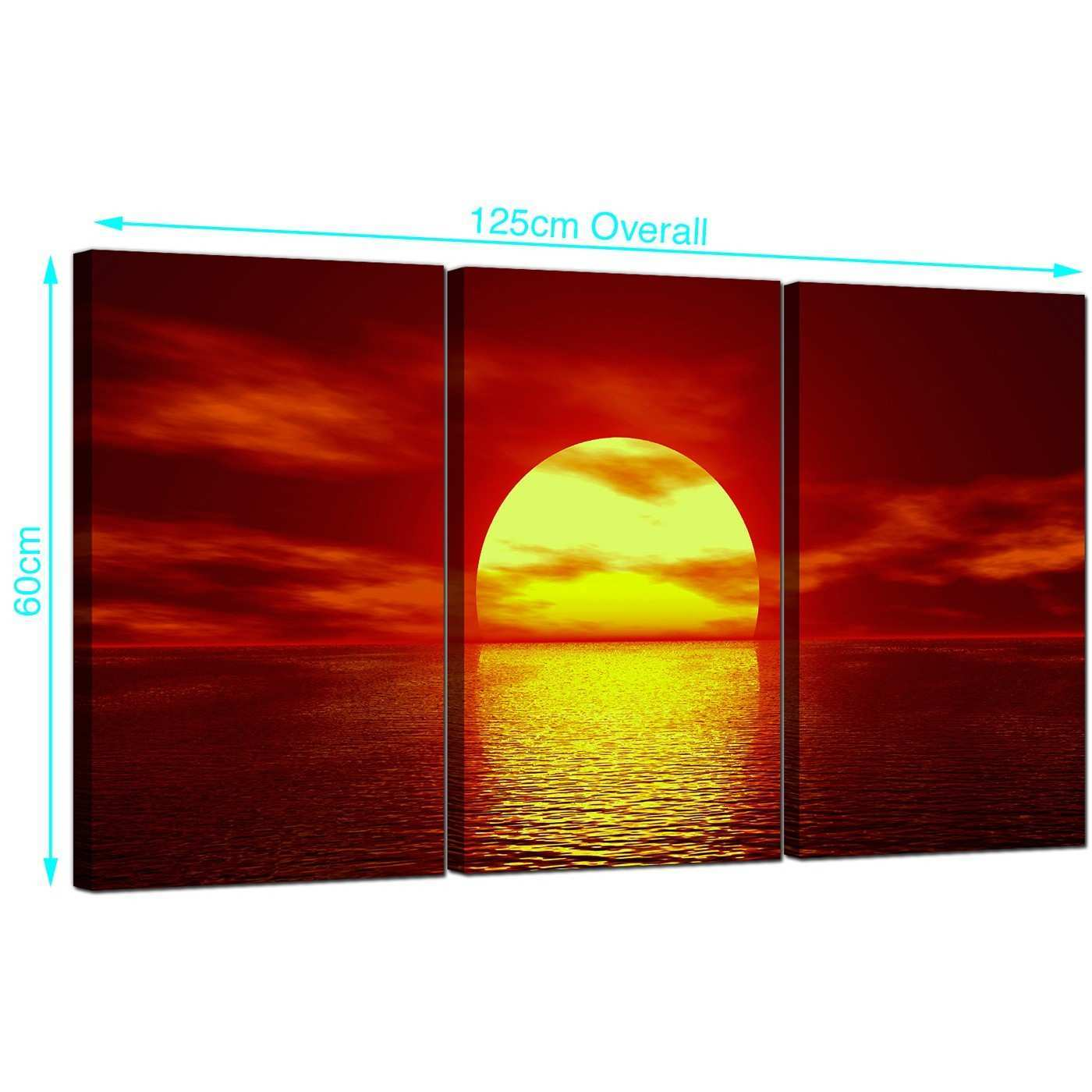 Sunset Orange Living Room vg sunsetseries 1x1 4 piece canvas