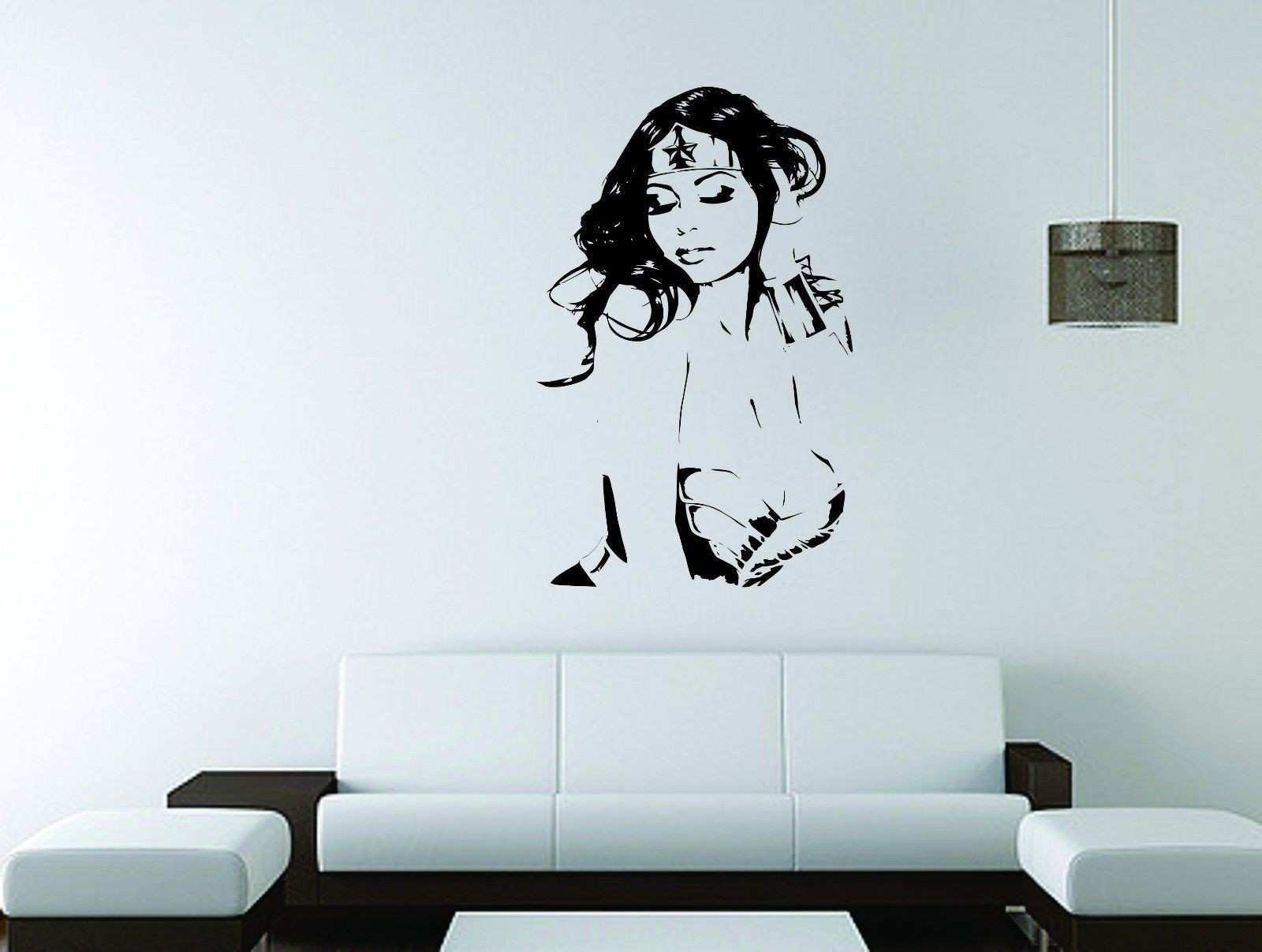 Wonder Woman Vinyl Decal DC Marvel ics Superhero Wall Sticker