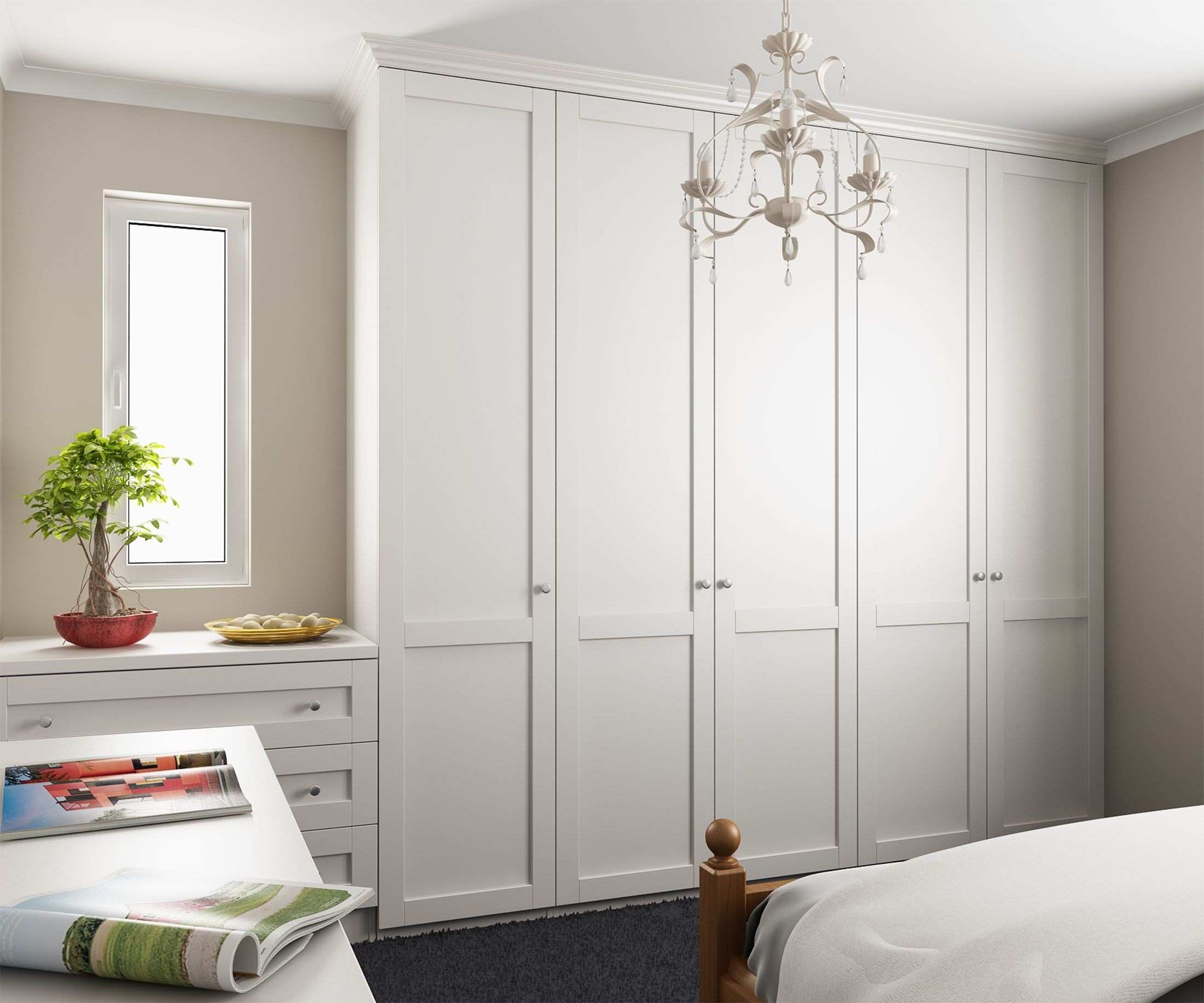 Popular Tall Wardrobes Along Left Wall Dressing Table Drawers With