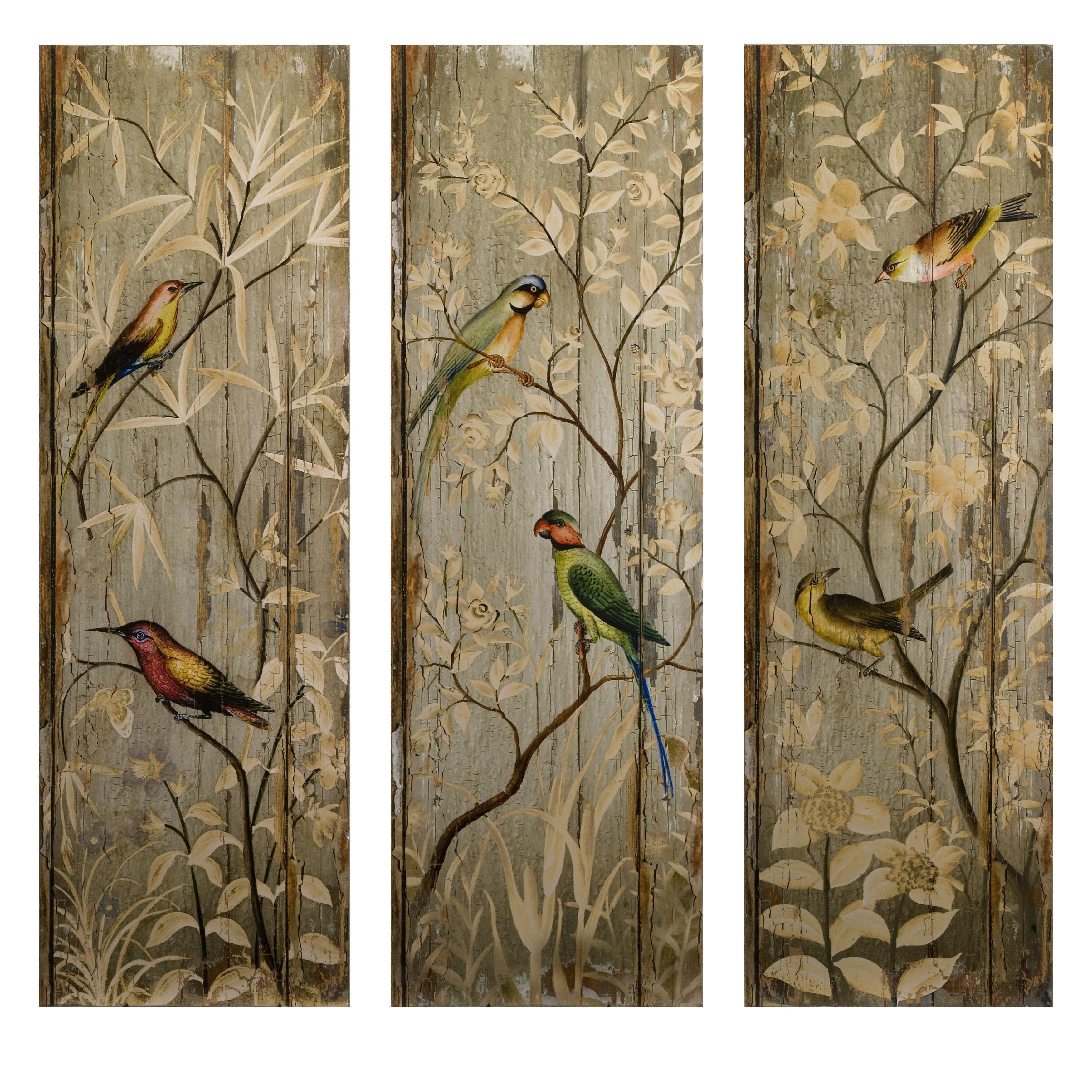 Imax Calima Bird Wall Décor Set of 3 painting Pinterest