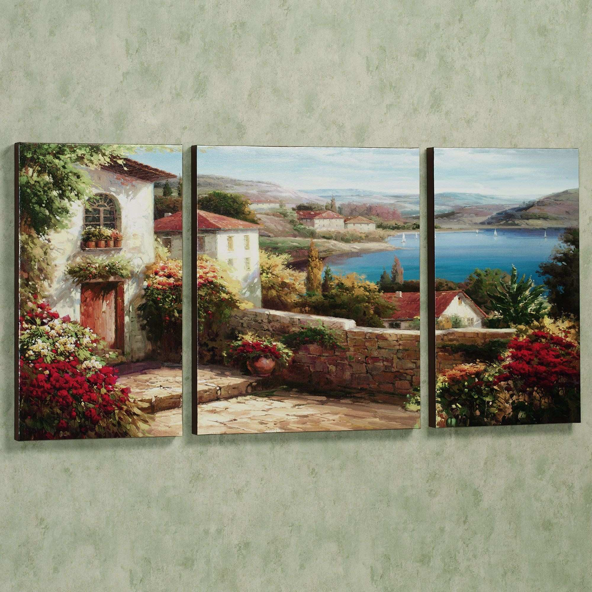 Sunday Afternoon Triptych Art Multi Warm Set of Three