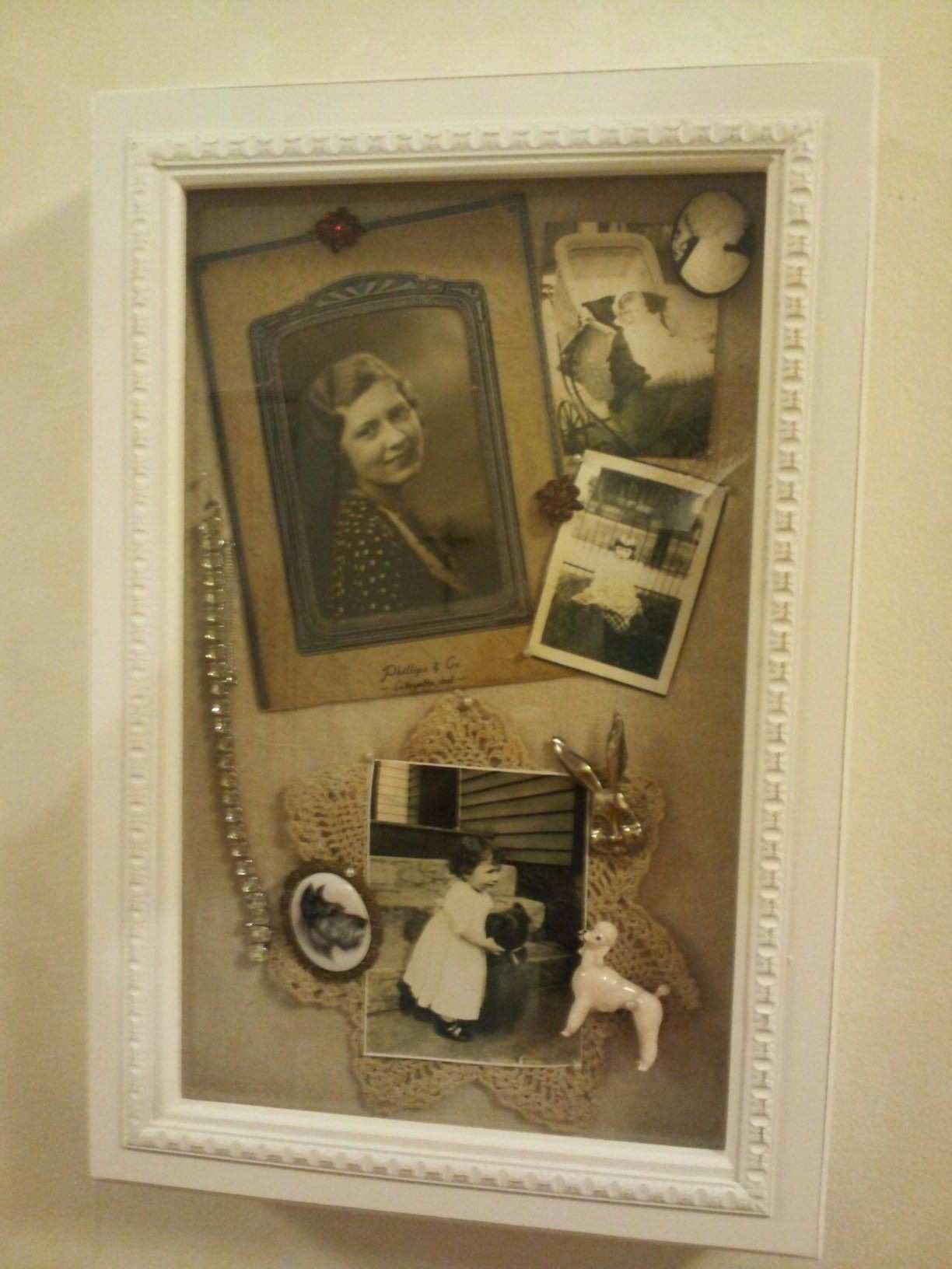 This is the another shadow box I bought at TJ Maxx to put in my