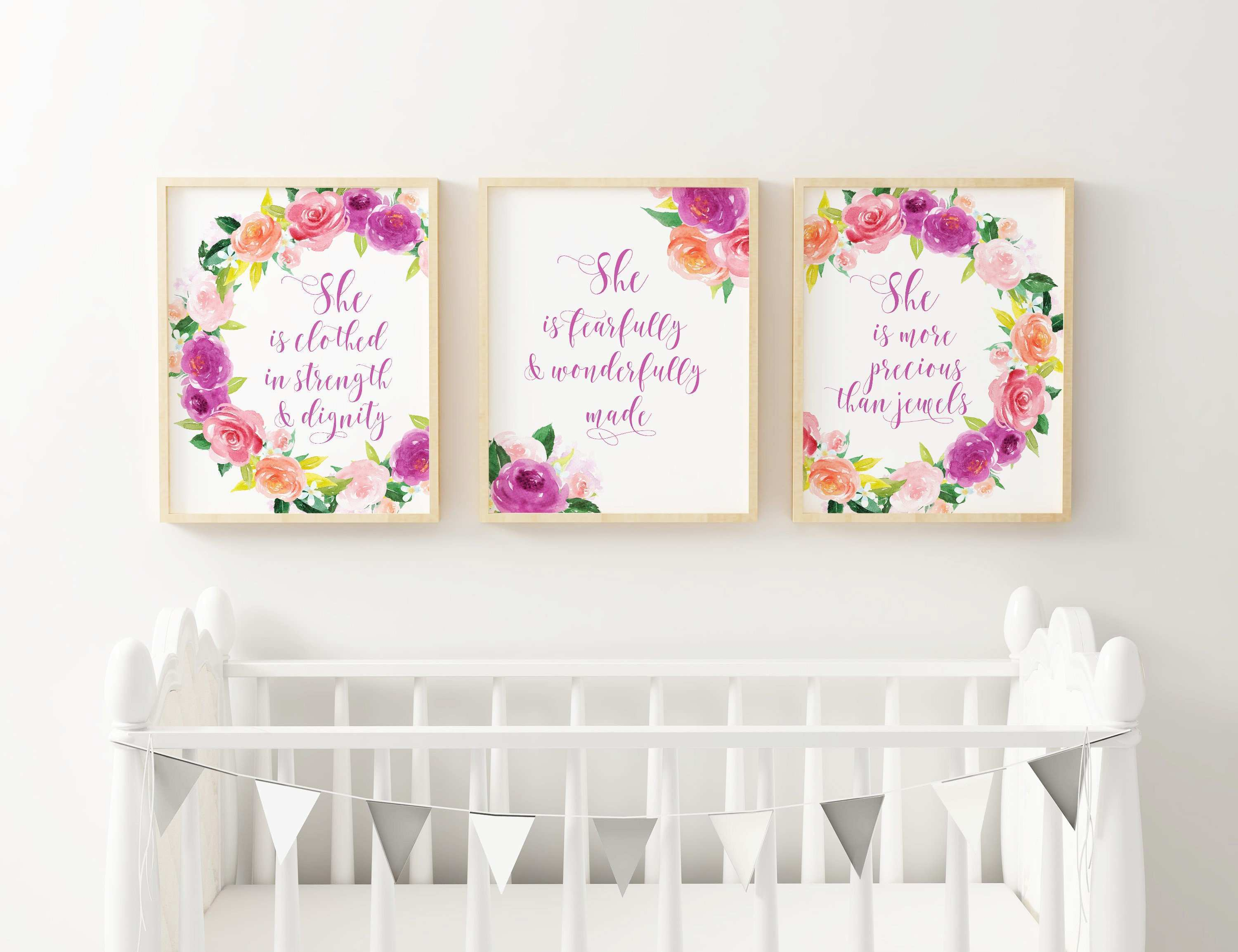 Toddler Girl Wall Decals Awesome Baby Girl Nursery Bible Verses Christian Nursery Wall Art