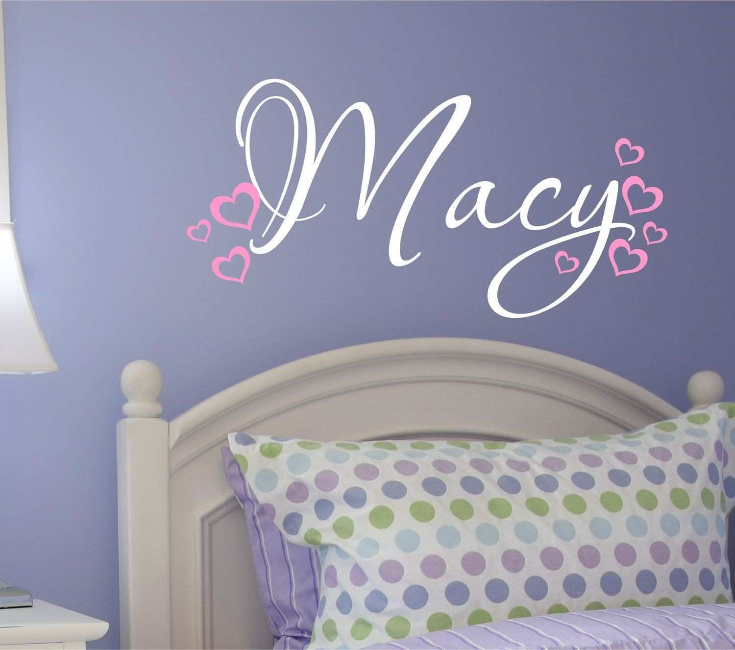 Toddler Girl Wall Decals Awesome Nursery Wall Decal Custom Name Vinyl Wall Decal Heart Wall Decal