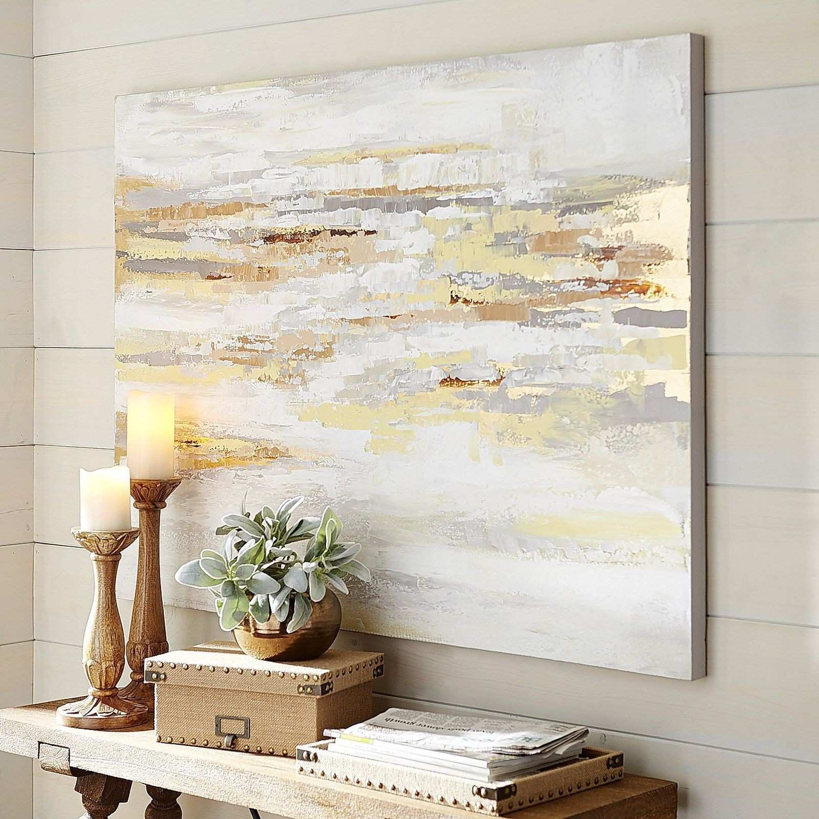 Muted shades multiply your options when considering wall art for