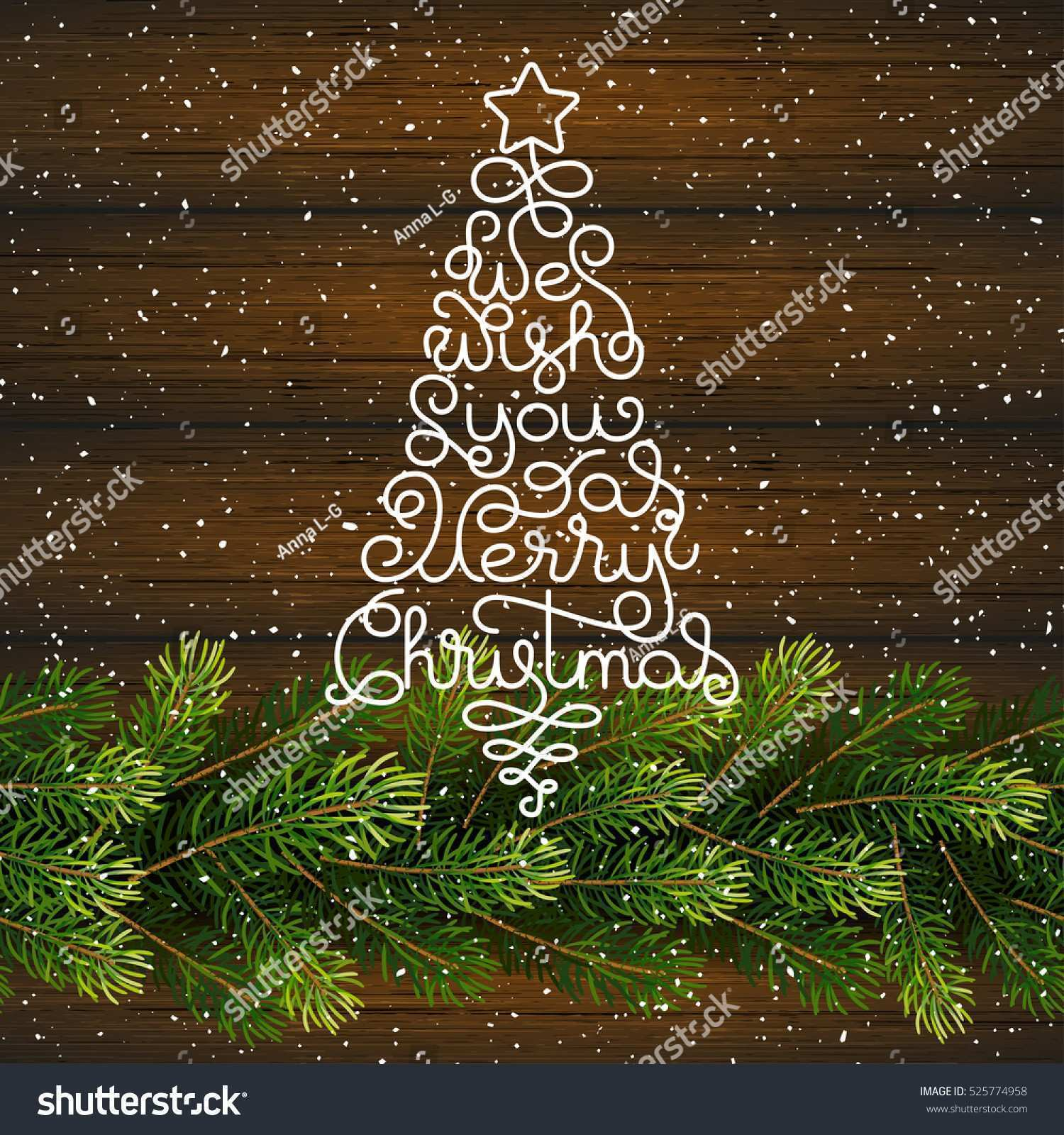 Holiday Gift Card Hand Lettering We Stock Vector