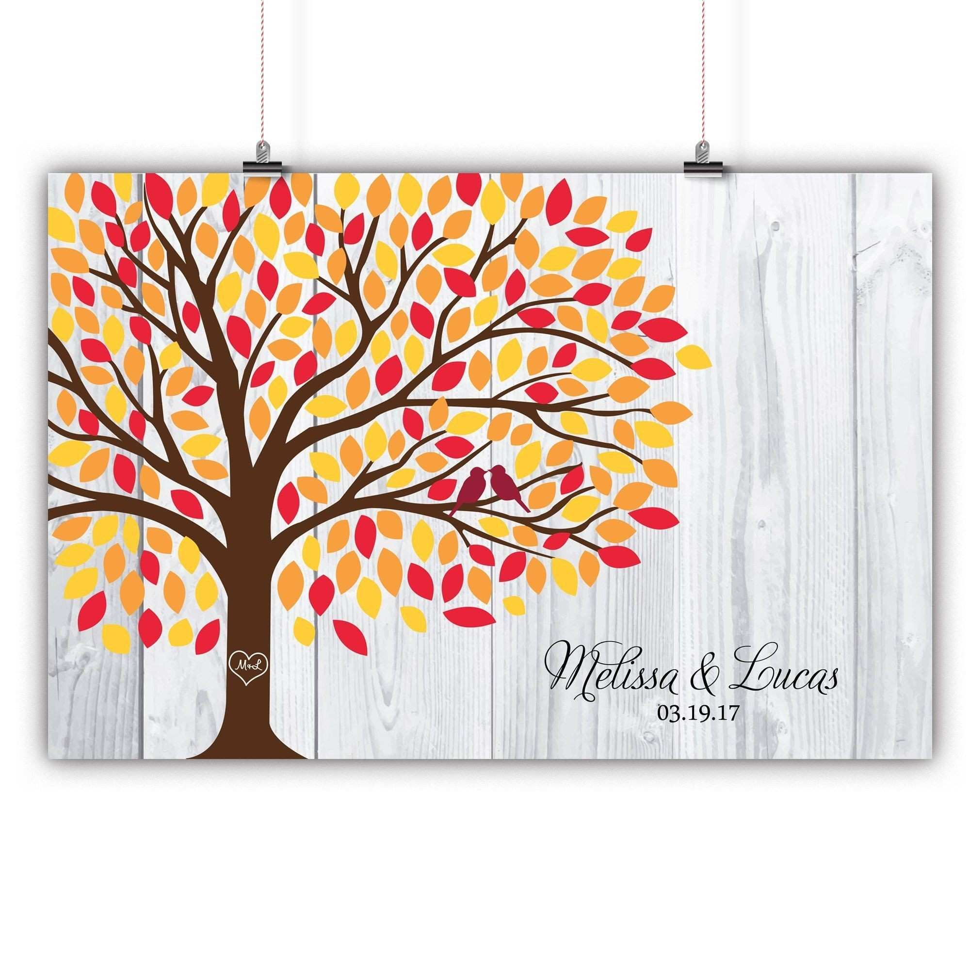 tree prints for walls elegant personalized wedding tree guest book