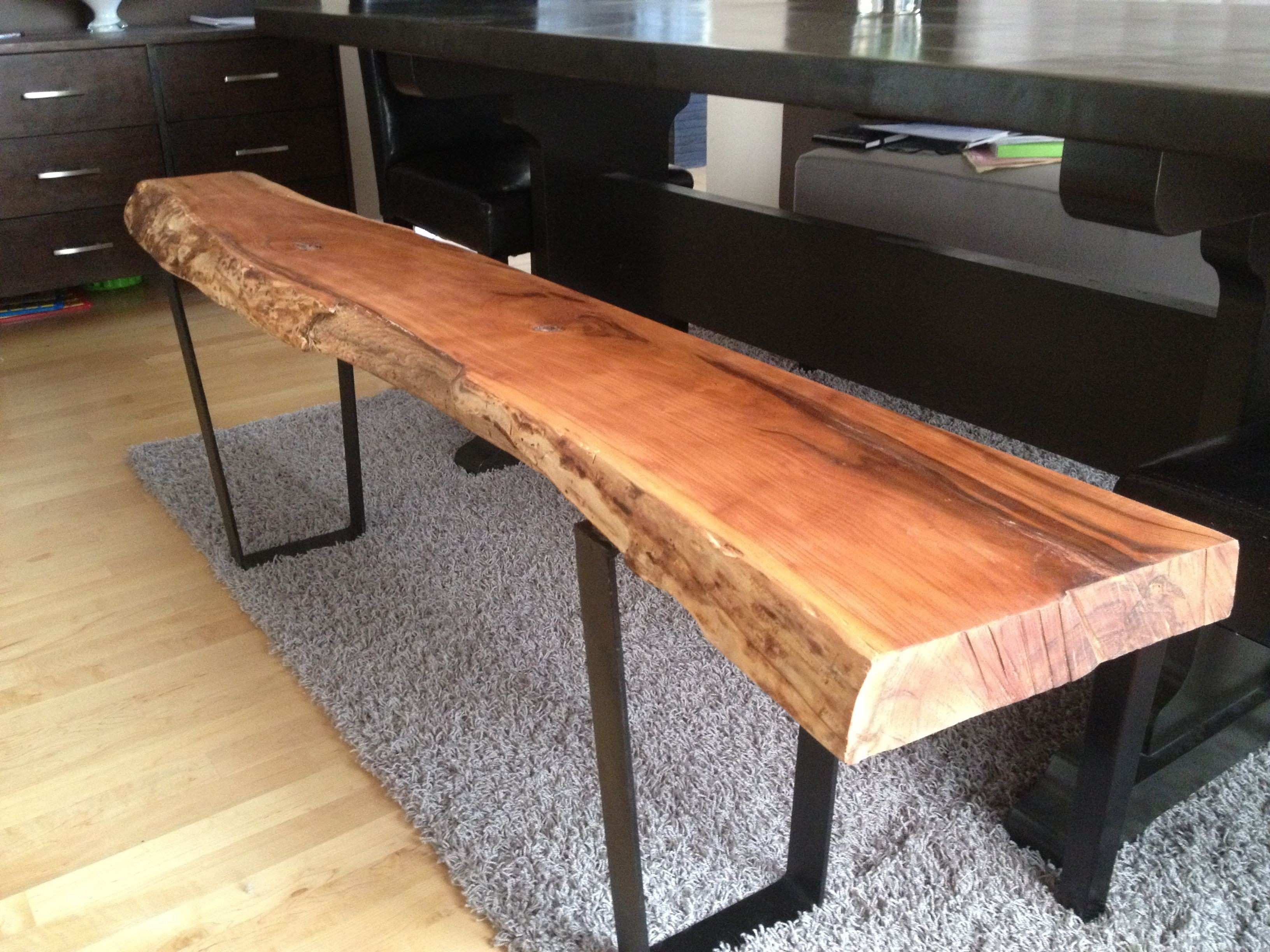 Live Edge Table with hairpin legs Live Edge Coffee table with metal