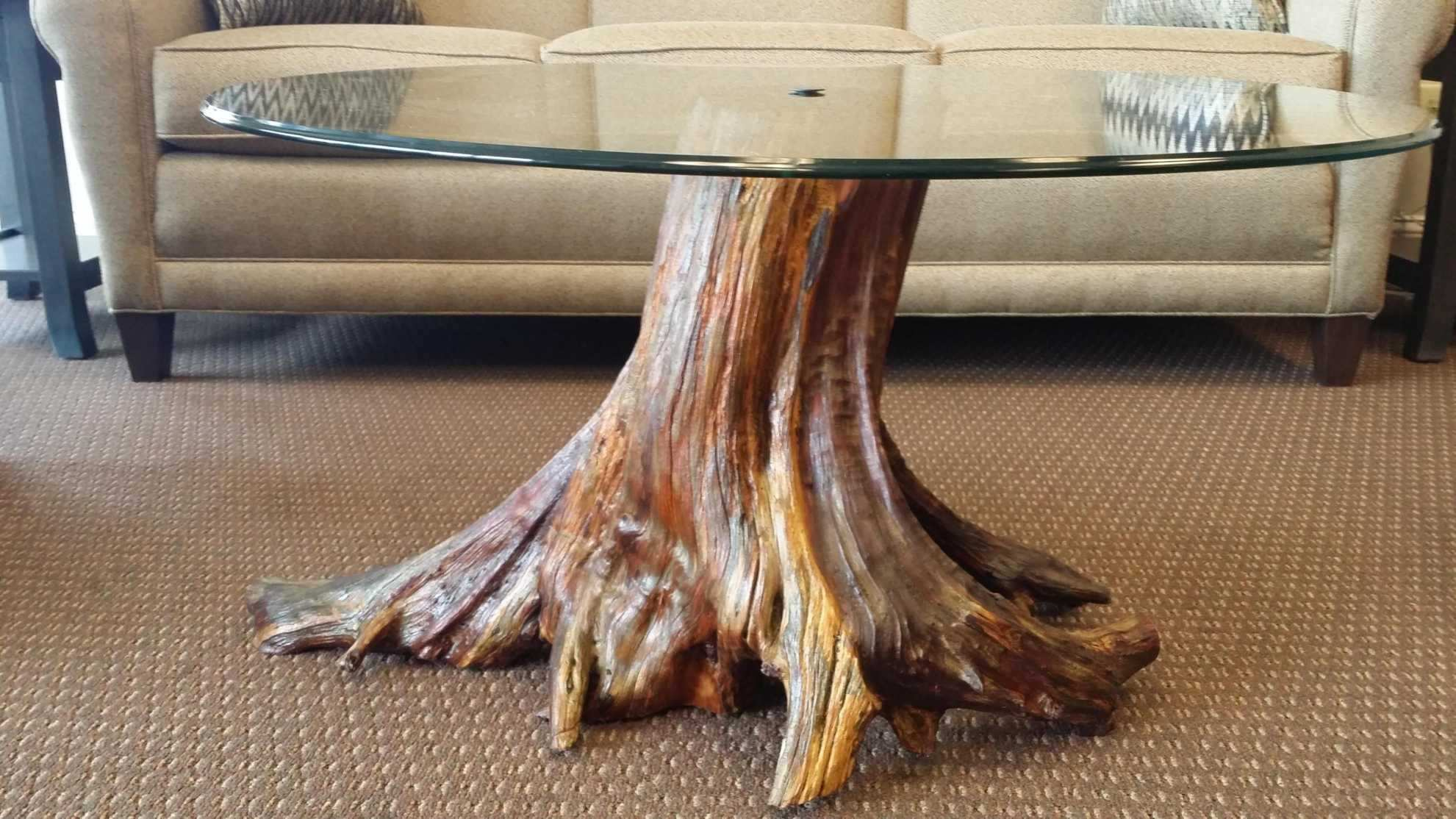 Amazing Natural Tree Stump Coffee Table