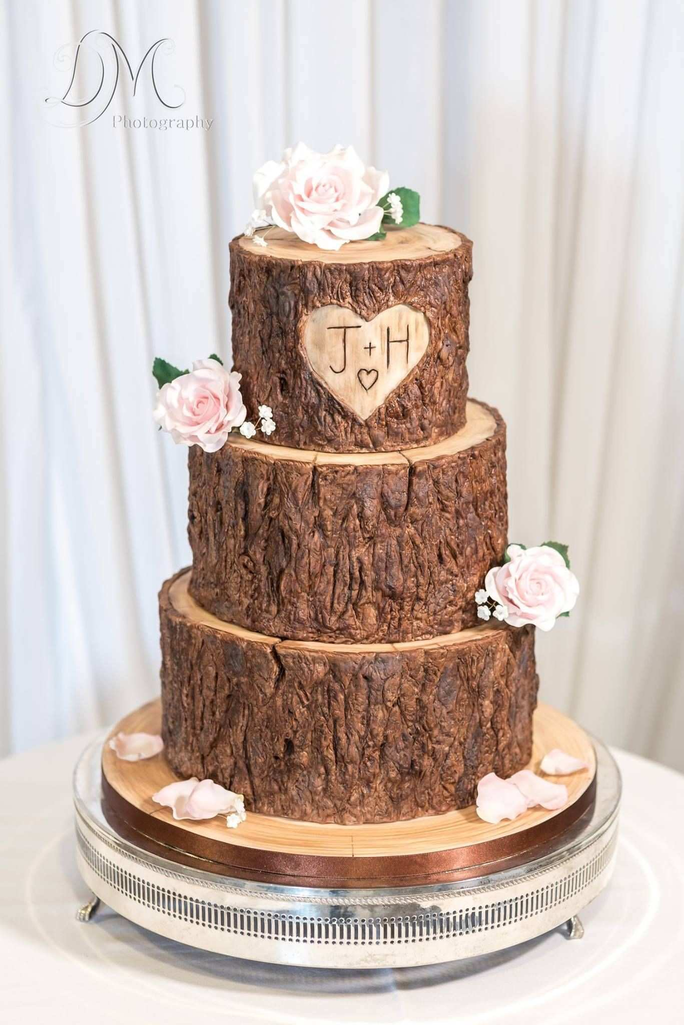 Wood tree stump effect wedding cake Cake Ideas