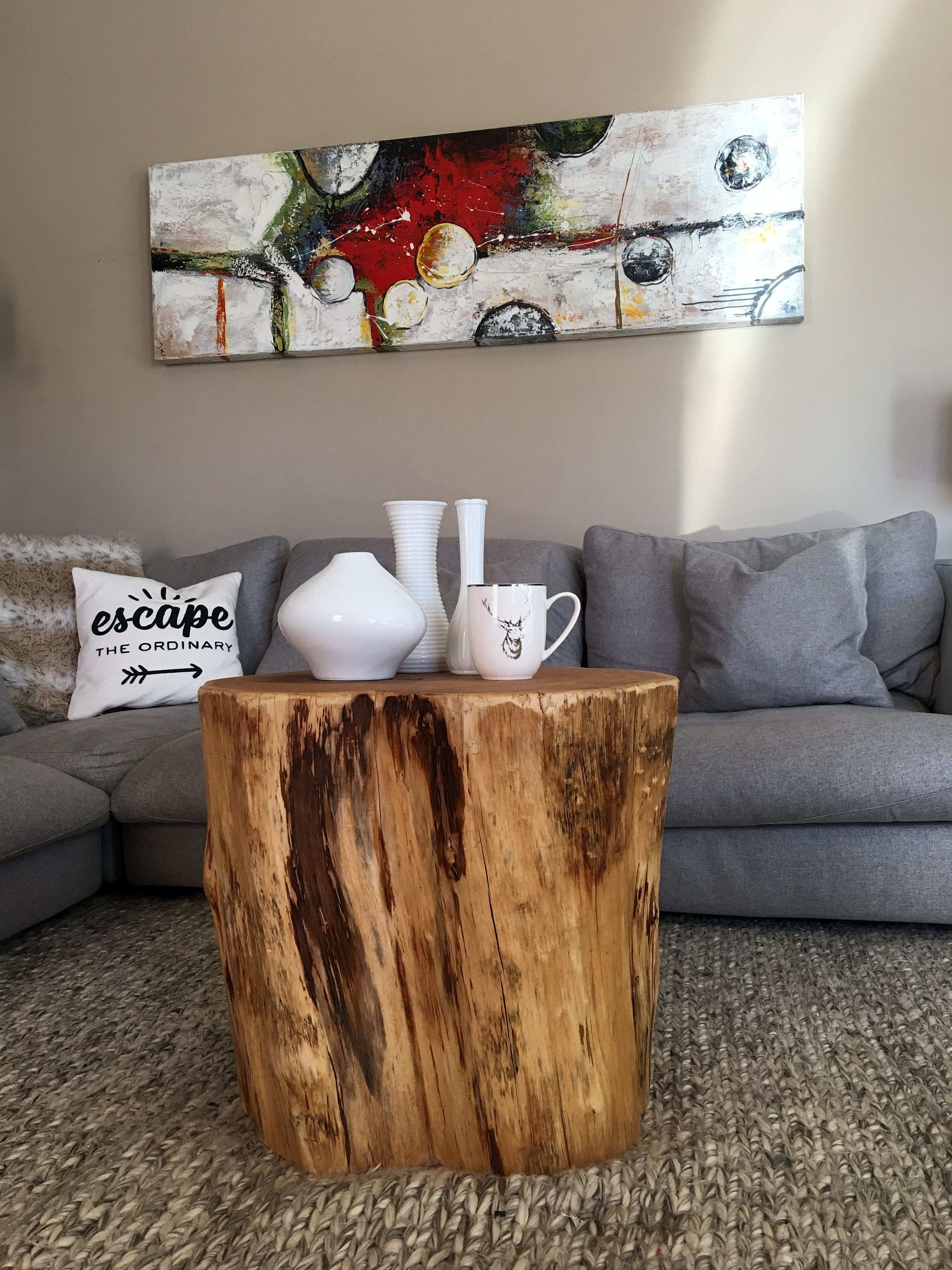 Weathered Coffee Table Distressed Wood Trunk Rustic With Wheels
