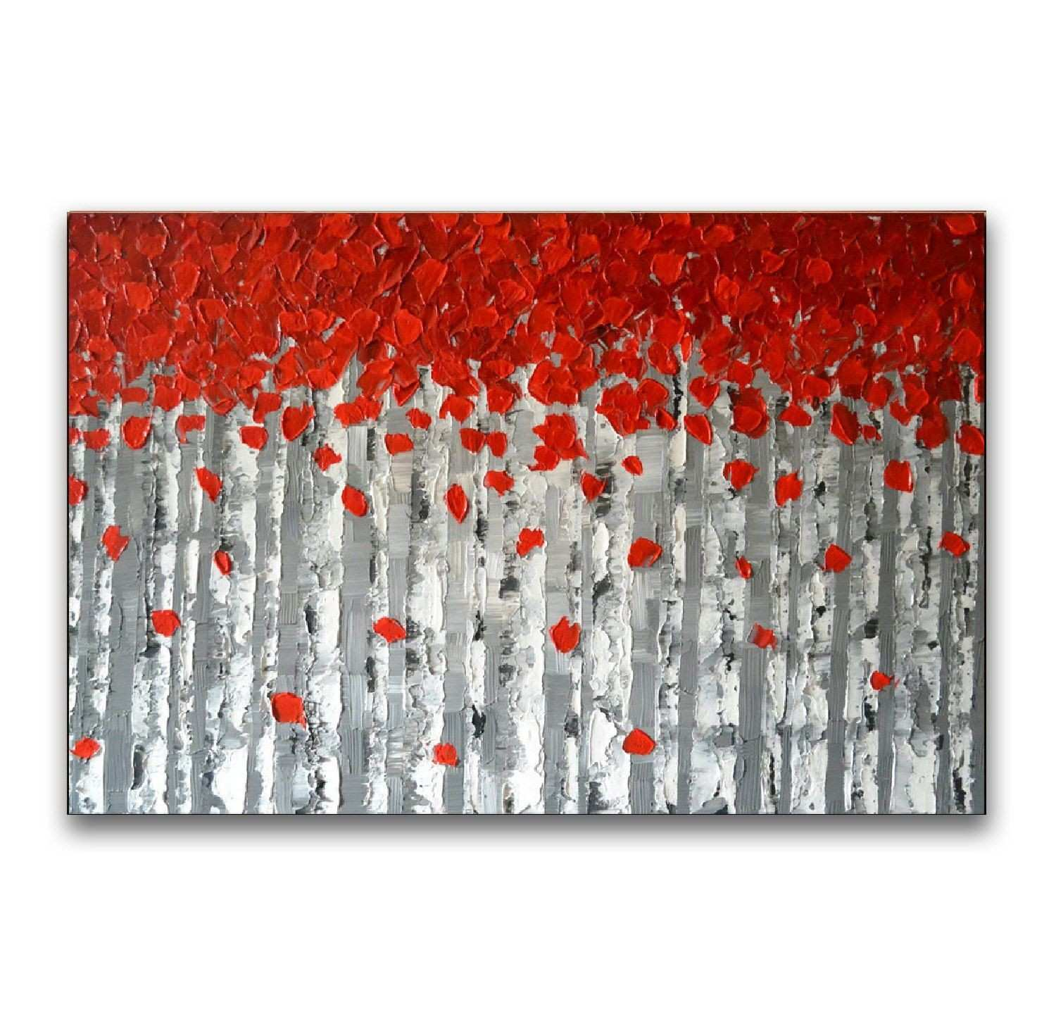 Impasto Painting Red Tree Painting original Abstract Painting