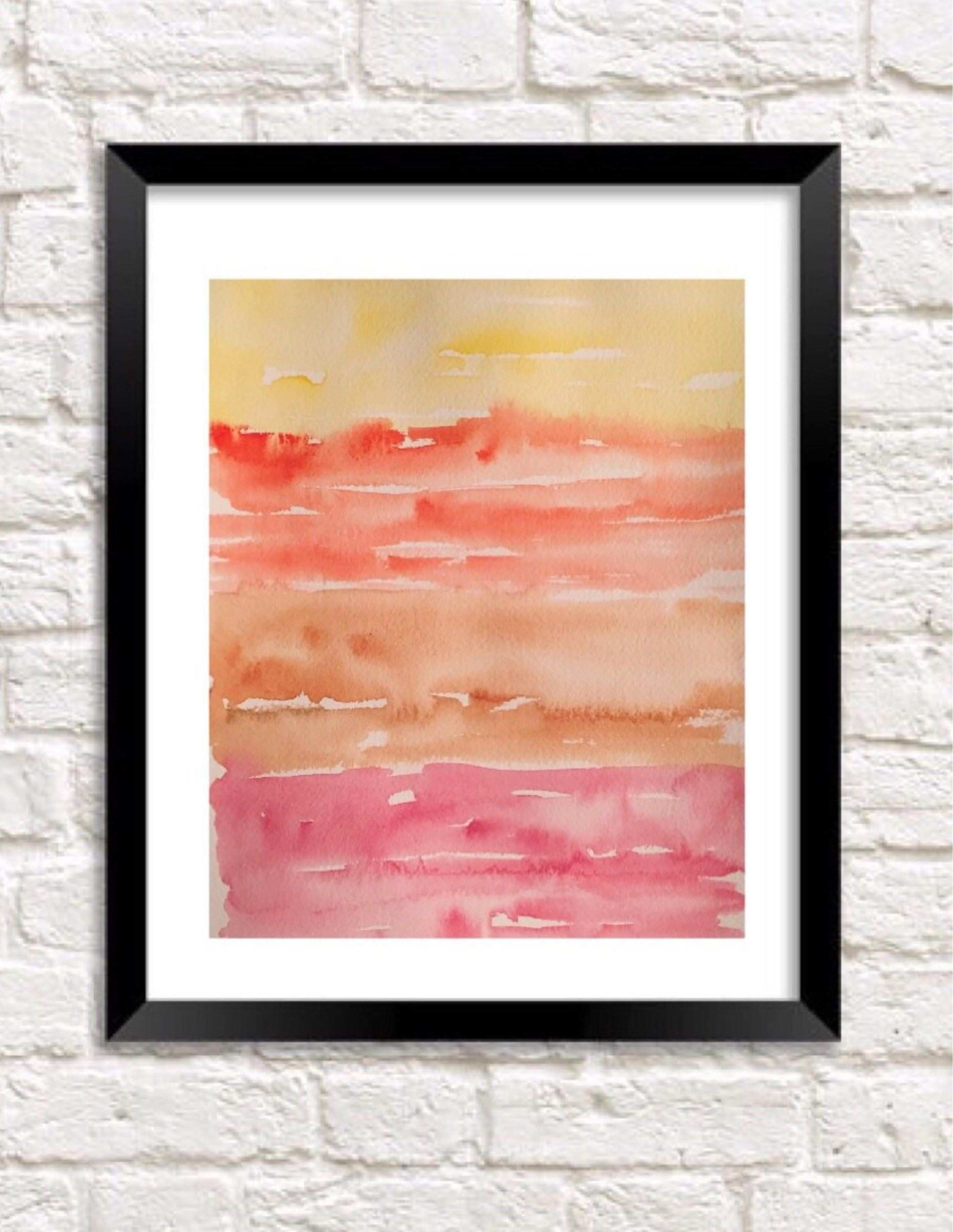 Tropical painting abstract Sunset sky painting Abstract art