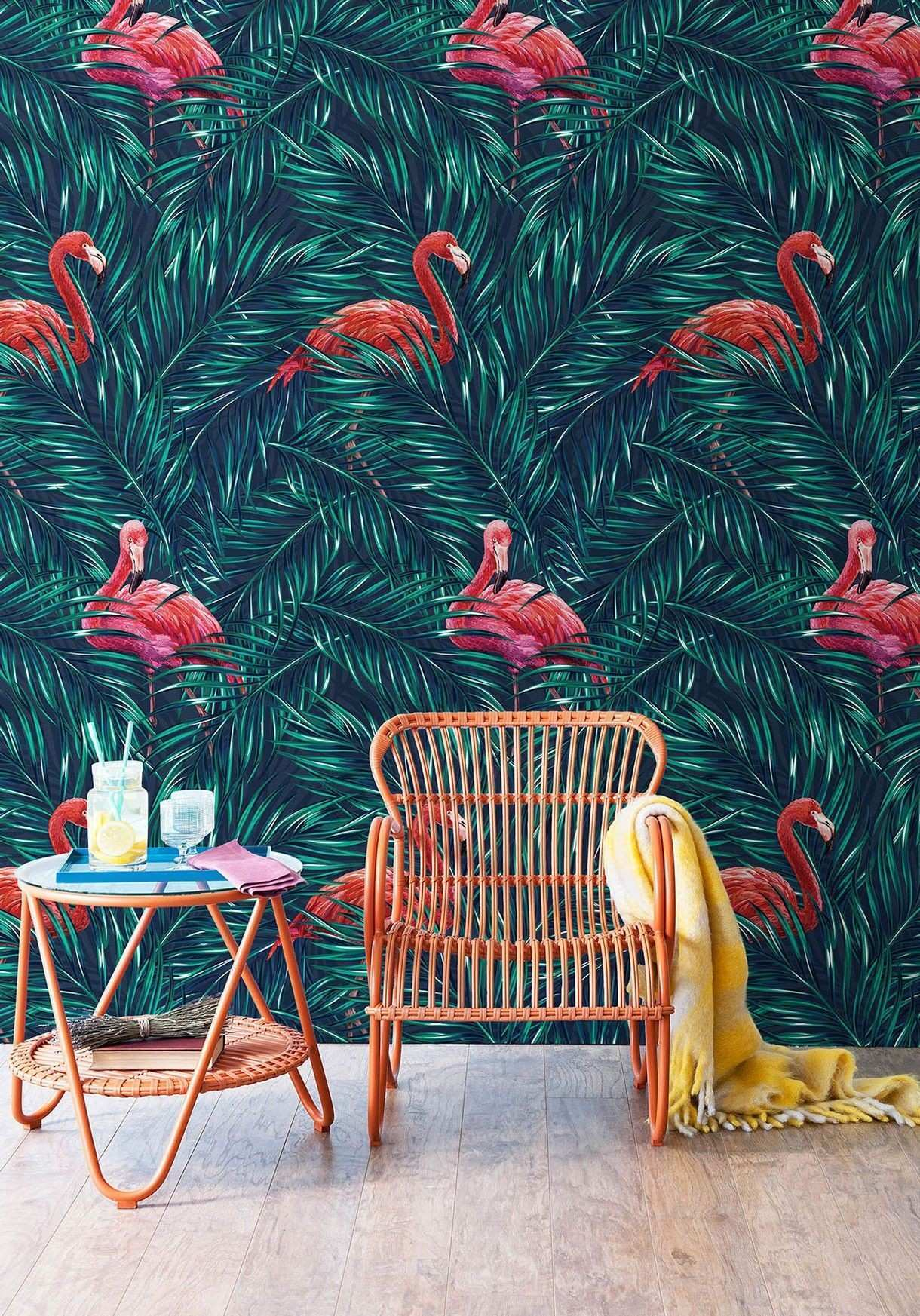 Tropical Pink Flamingo Wallpaper from Milton & King