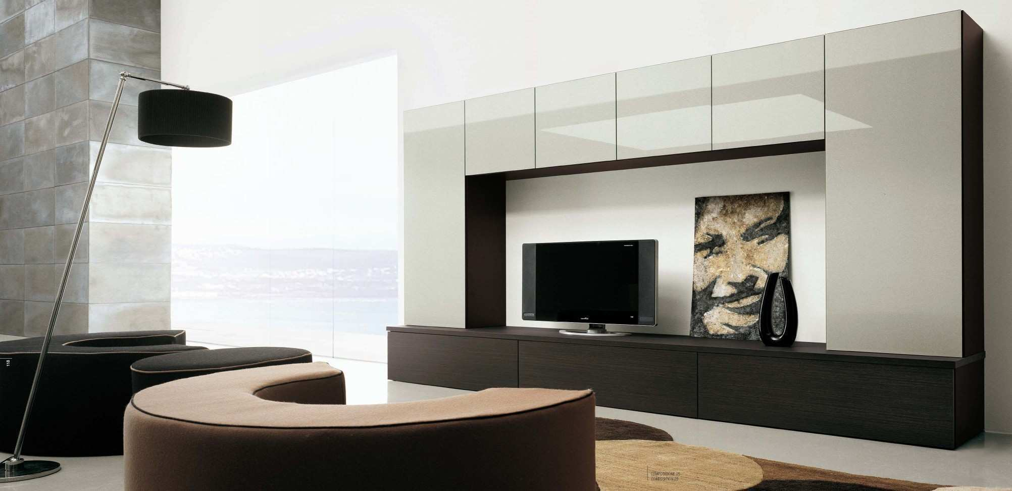 Outstanding Simple Chic Wall Unit For Living Room Interior