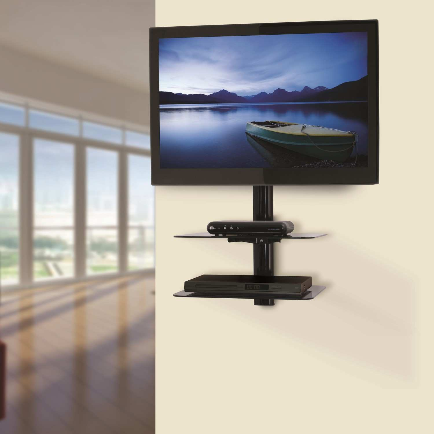 Interior TV Wall Mount With Shelves For Your Living Room