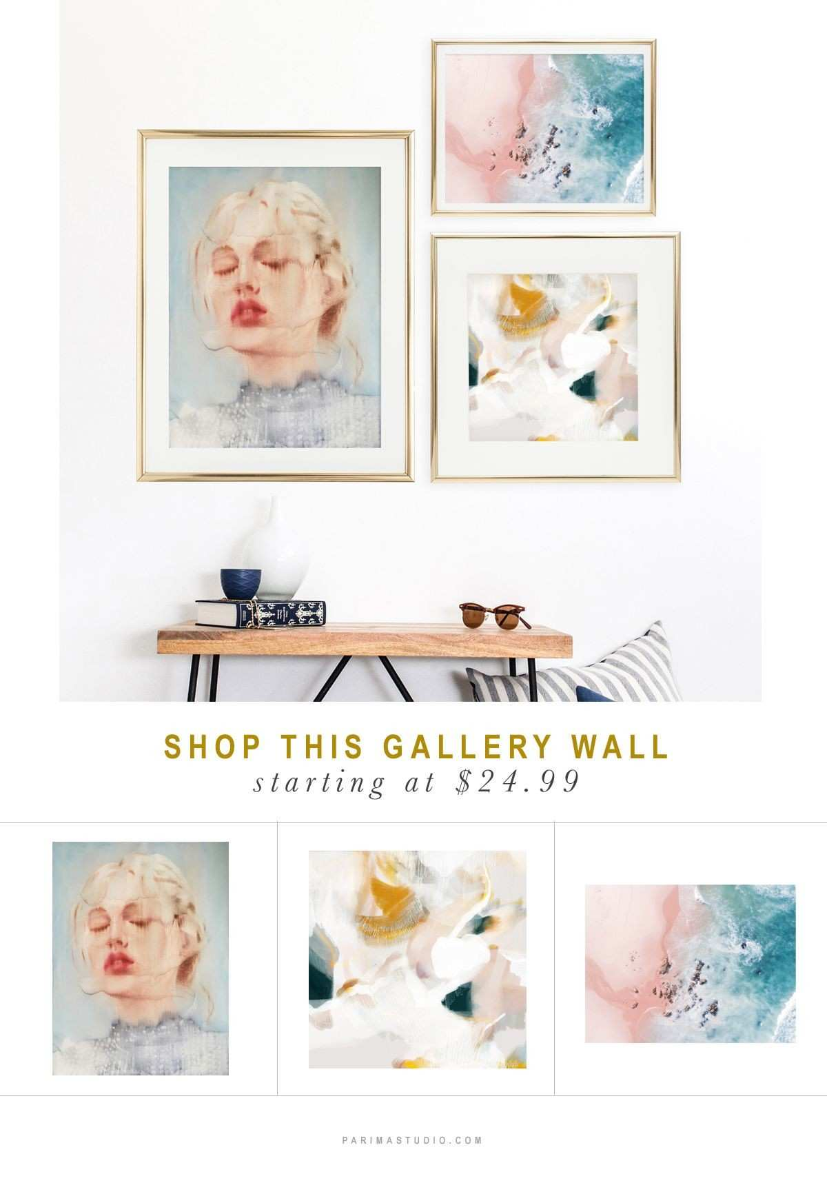 Gallery Wall No 2 Featuring Evangeline Art Print