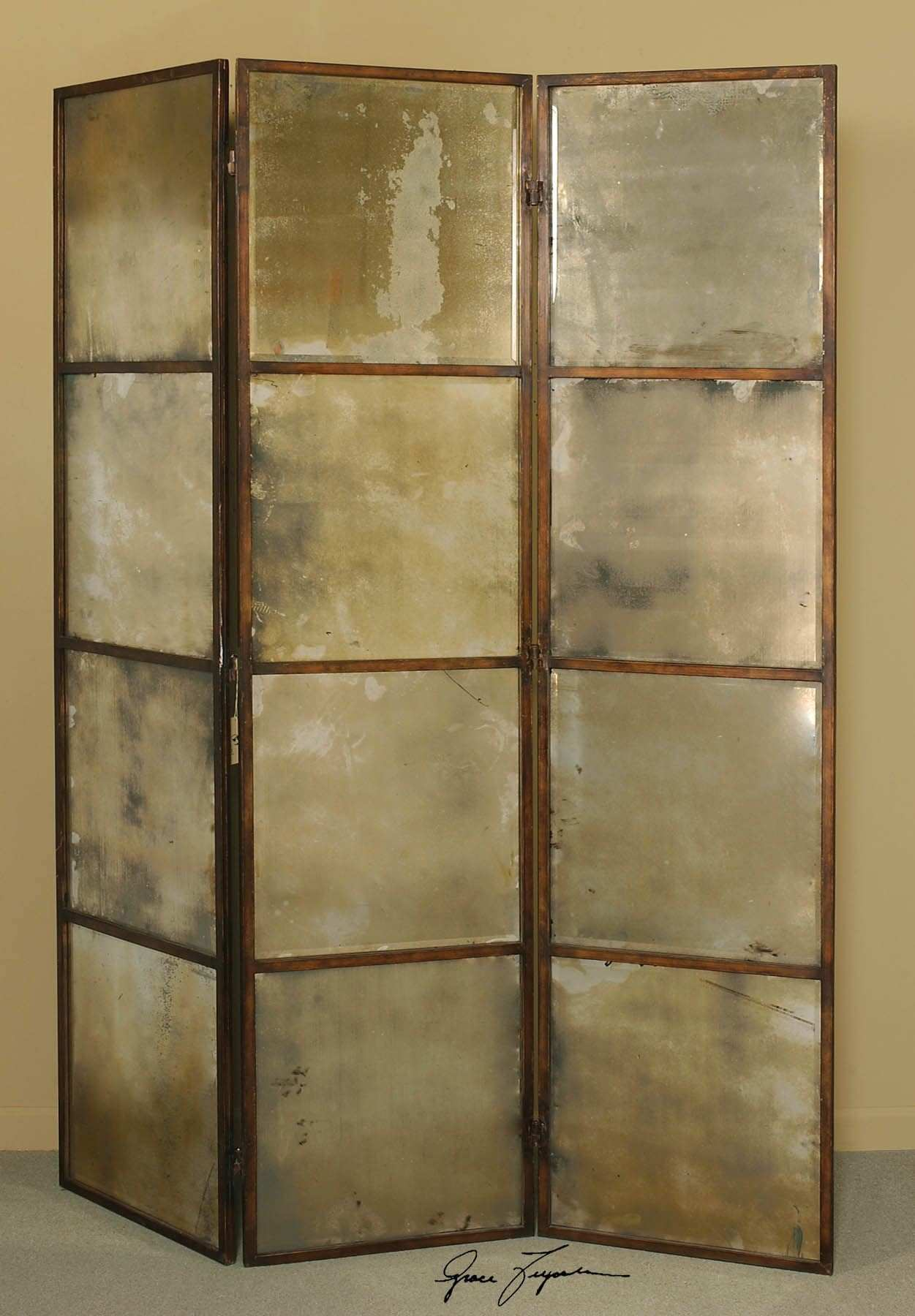 Uttermost Avidan 3 Panel Screen Mirror 62w 80h 3d