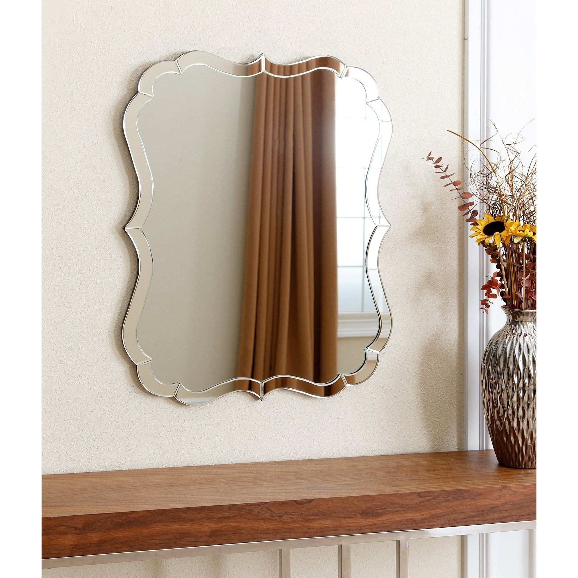 Abbyson Olivia Rectangle Wall Mirror by Abbyson
