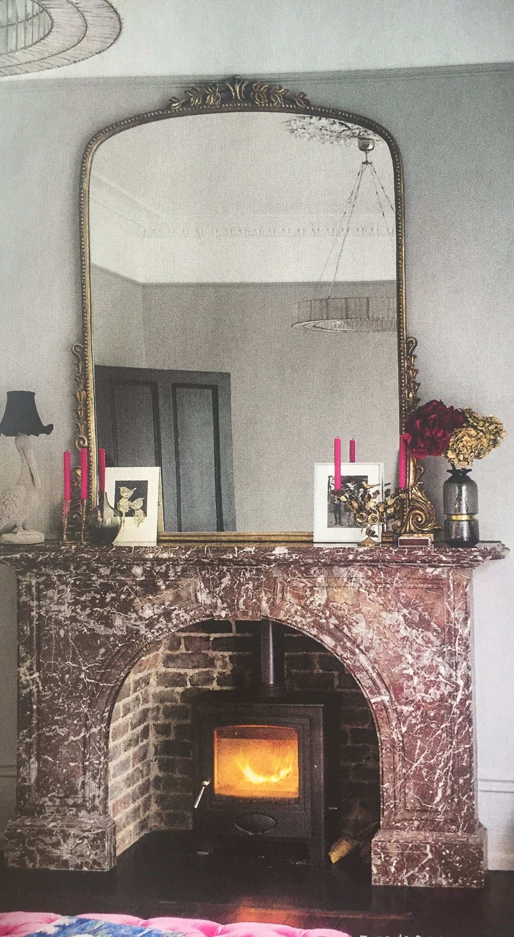Very large over mantle mirror Sitting Room ideas