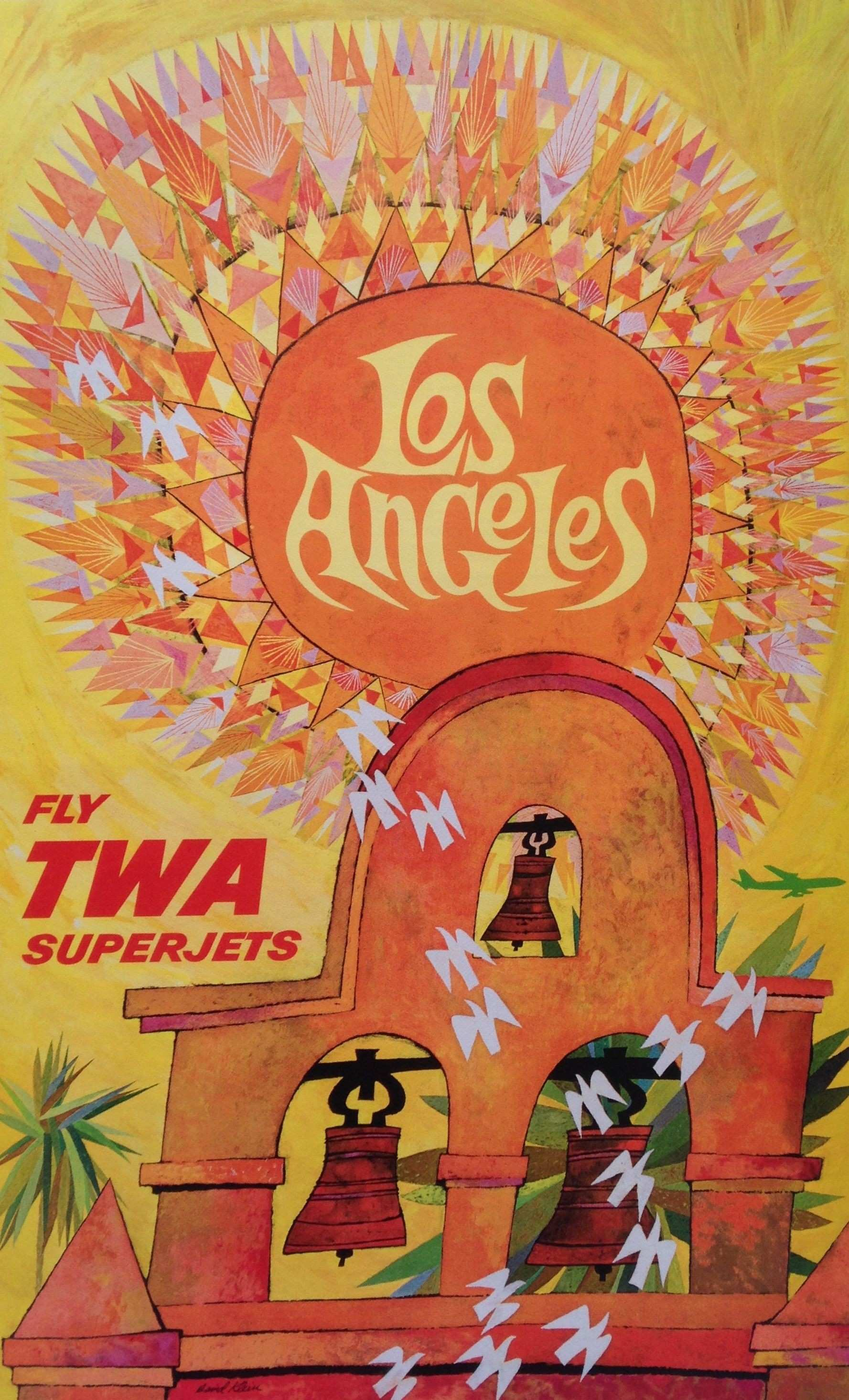 vintage travel poster by David Klein at LACMA