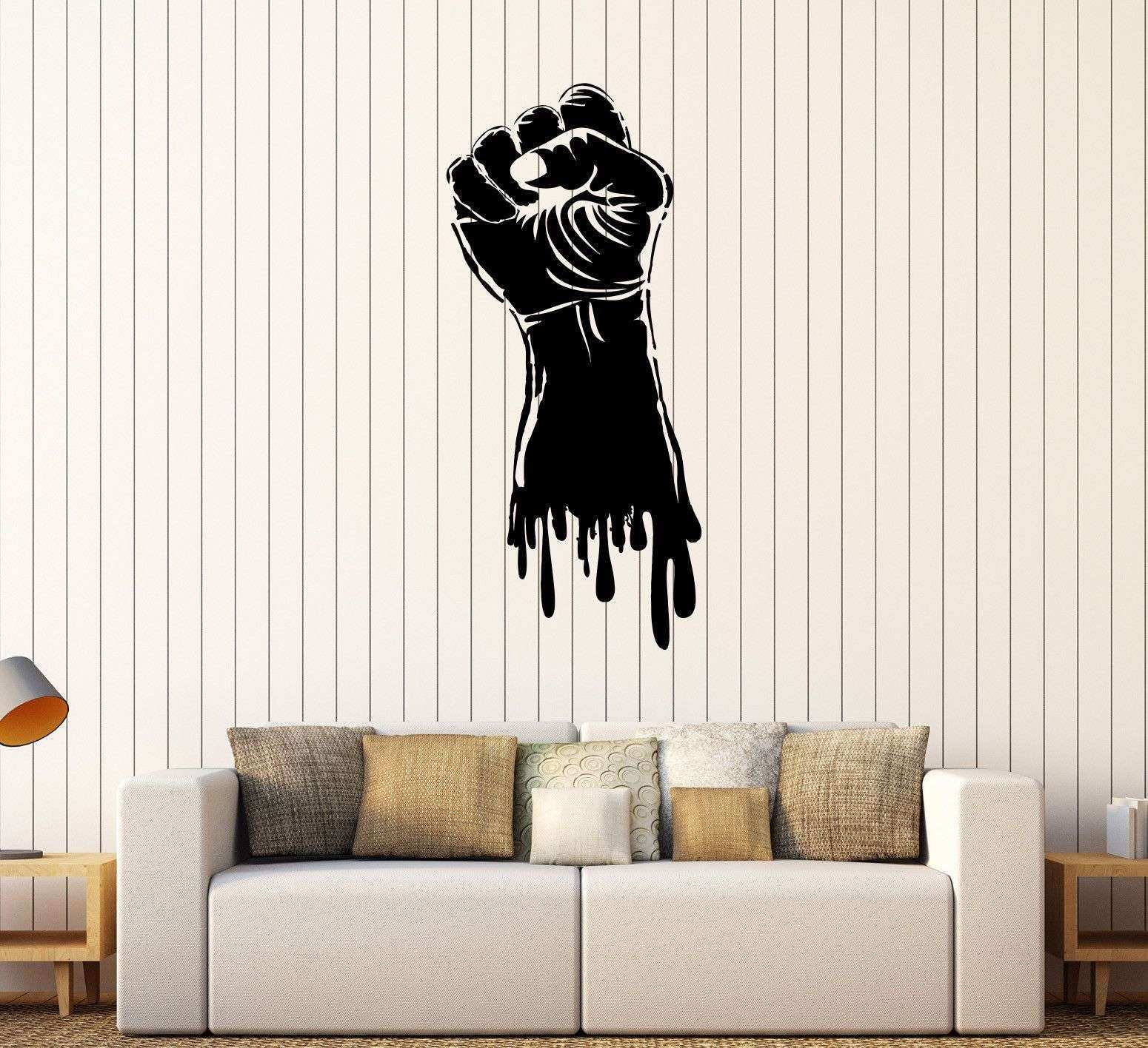 Wall Decor Stickers for Bedroom Elegant Vinyl Wall Decal Fist Hand